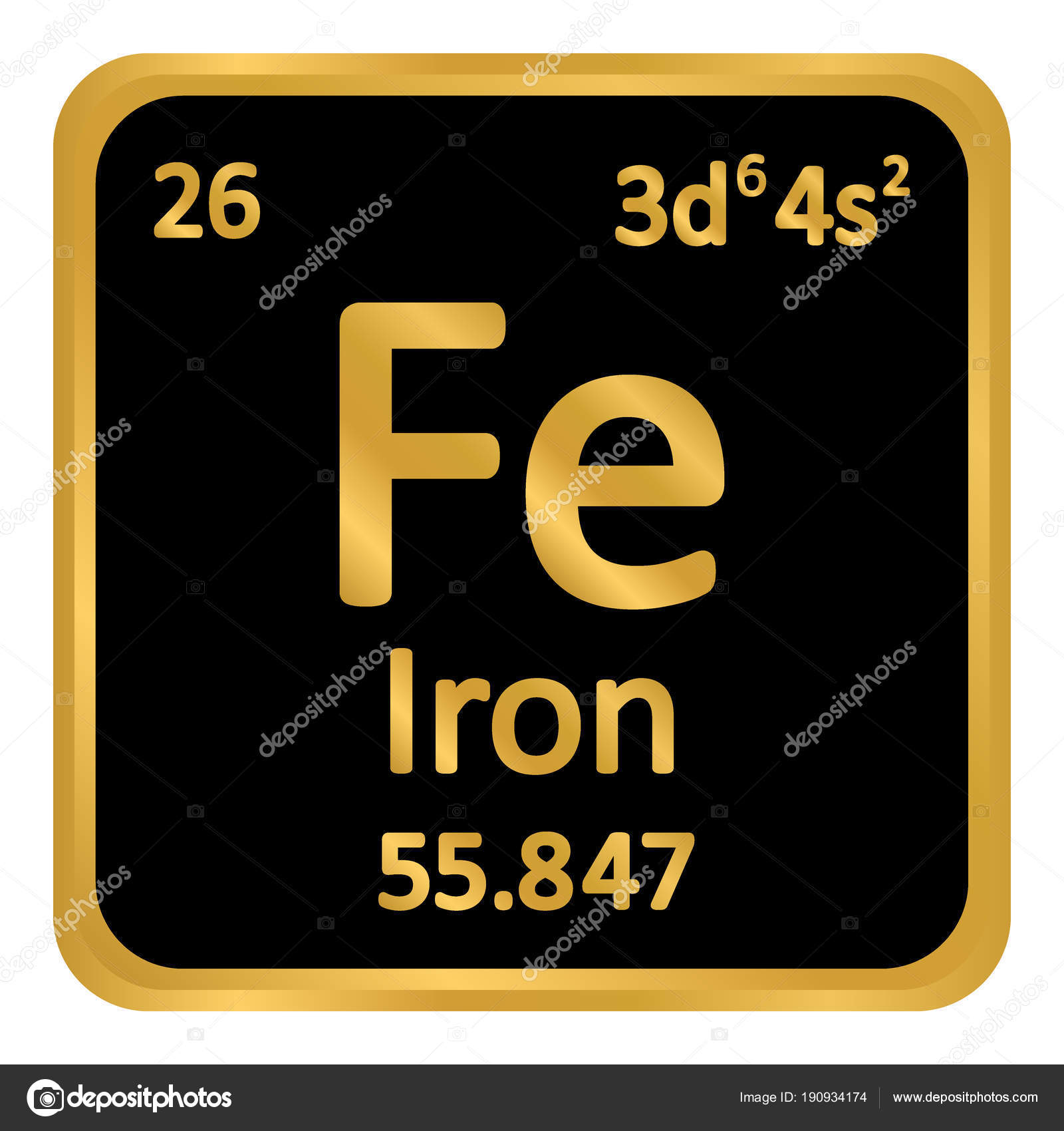 tabla periodica elemento hierro icono fondo blanco ilustracin de vector vector de konstsem - Tabla Periodica De Los Elementos Hierro