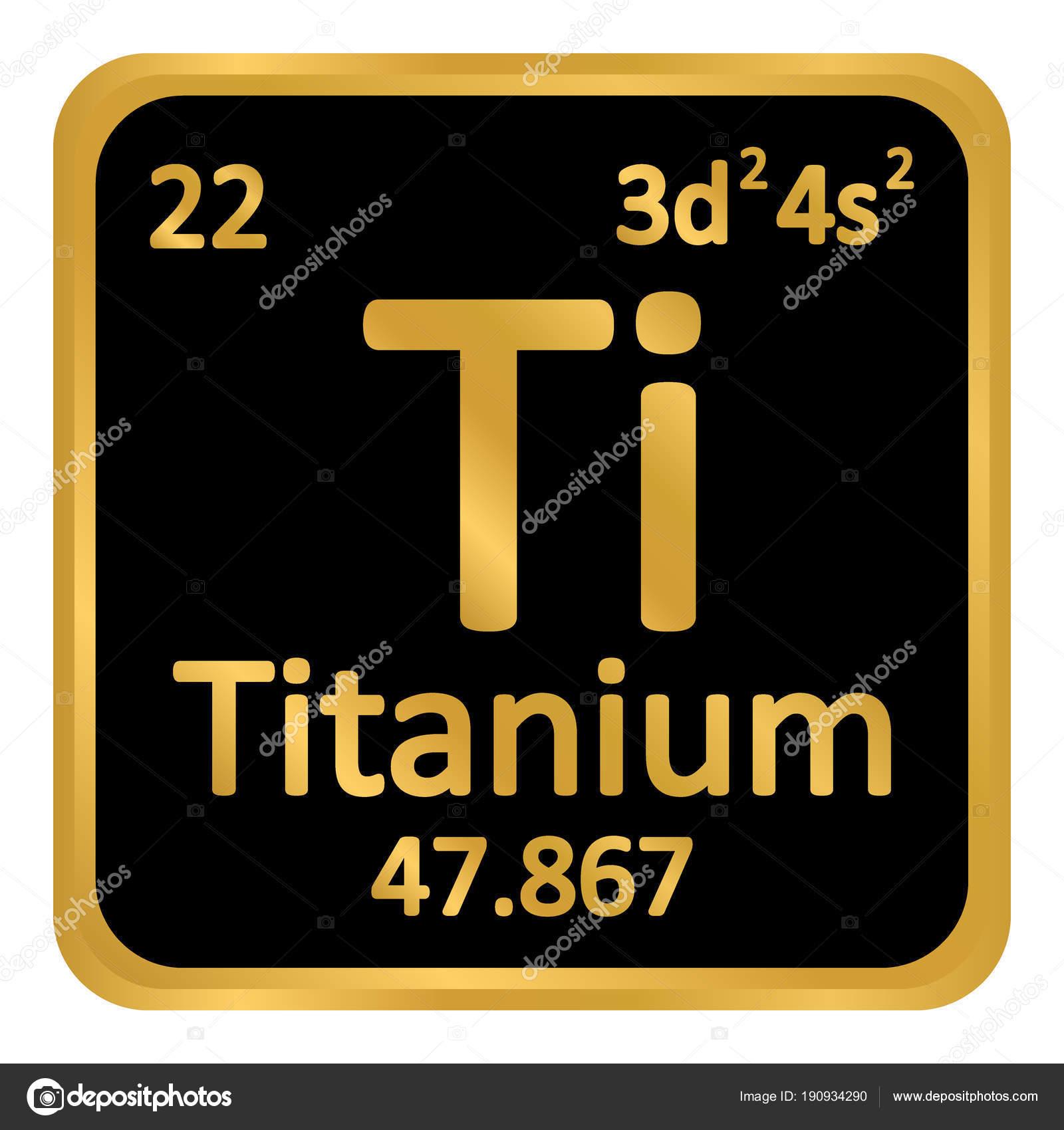Icono de titanio de elemento de tabla peridica archivo imgenes tabla periodica elemento titanio el icono sobre fondo blanco ilustracin de vector vector de konstsem urtaz Choice Image