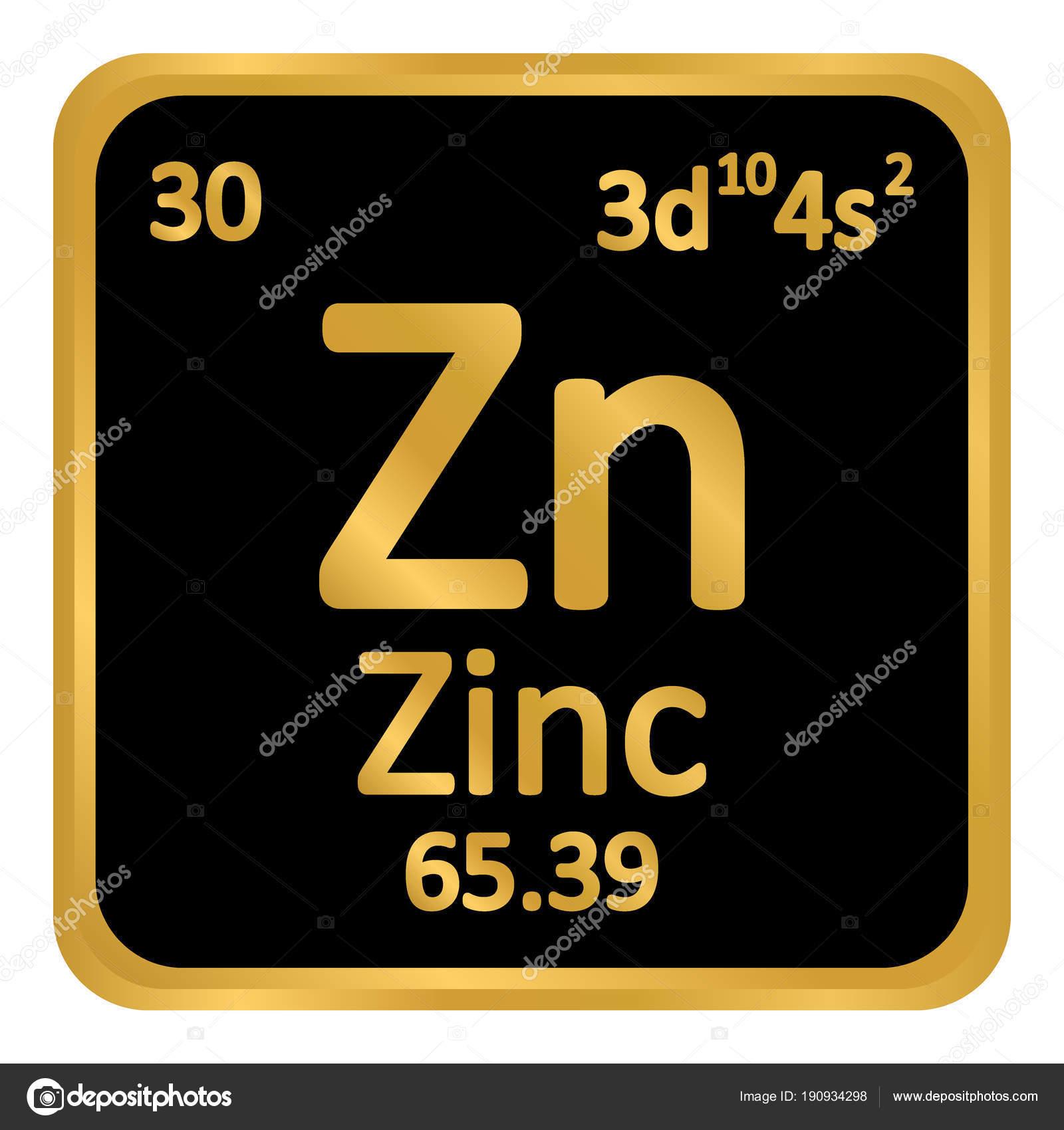 Icono de zinc elemento tabla peridica vector de stock konstsem tabla periodica elemento zinc el icono sobre fondo blanco ilustracin de vector vector de konstsem urtaz Image collections