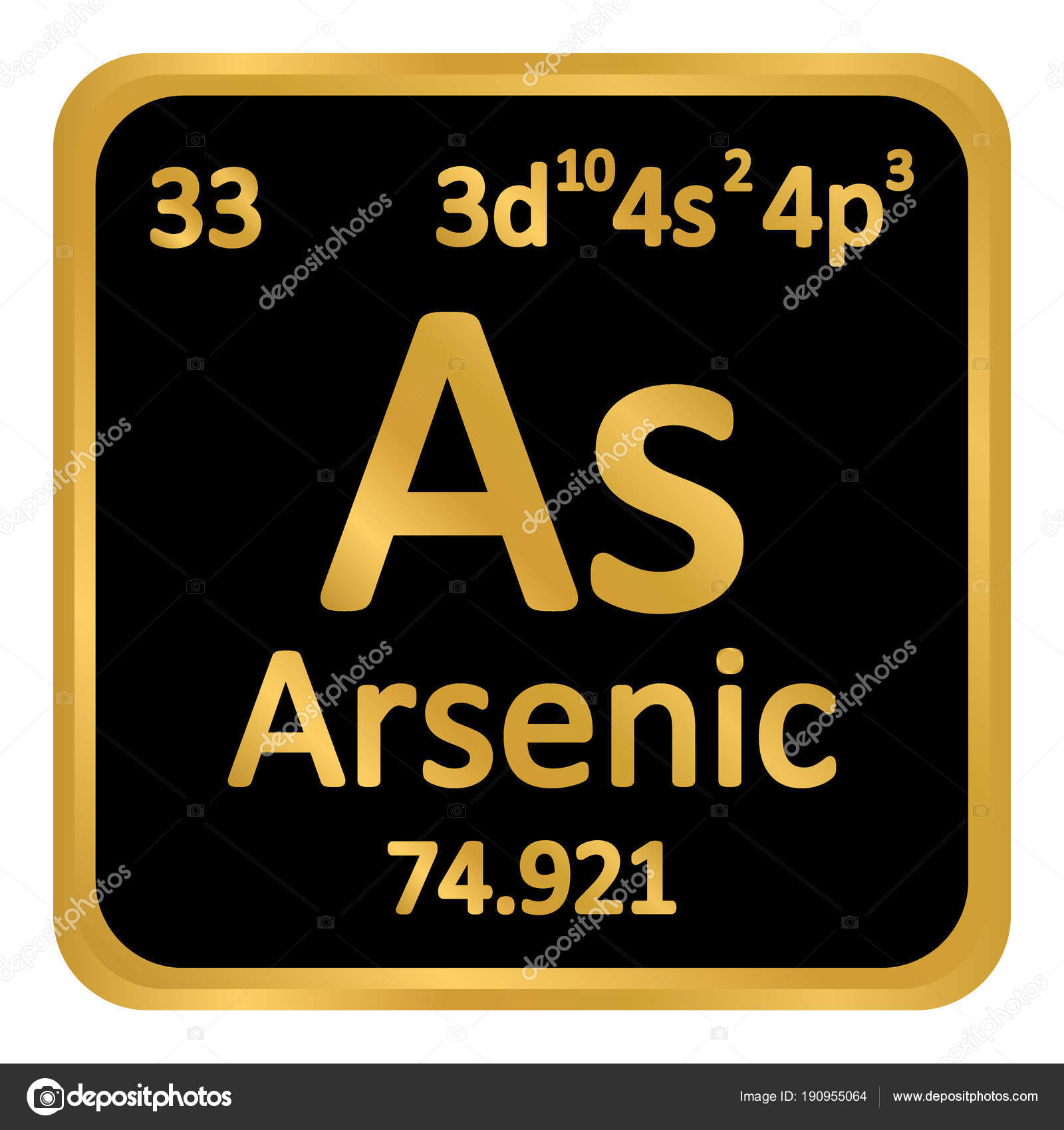 Periodic table element arsenic icon stock vector konstsem periodic table element arsenic icon stock vector biocorpaavc Image collections