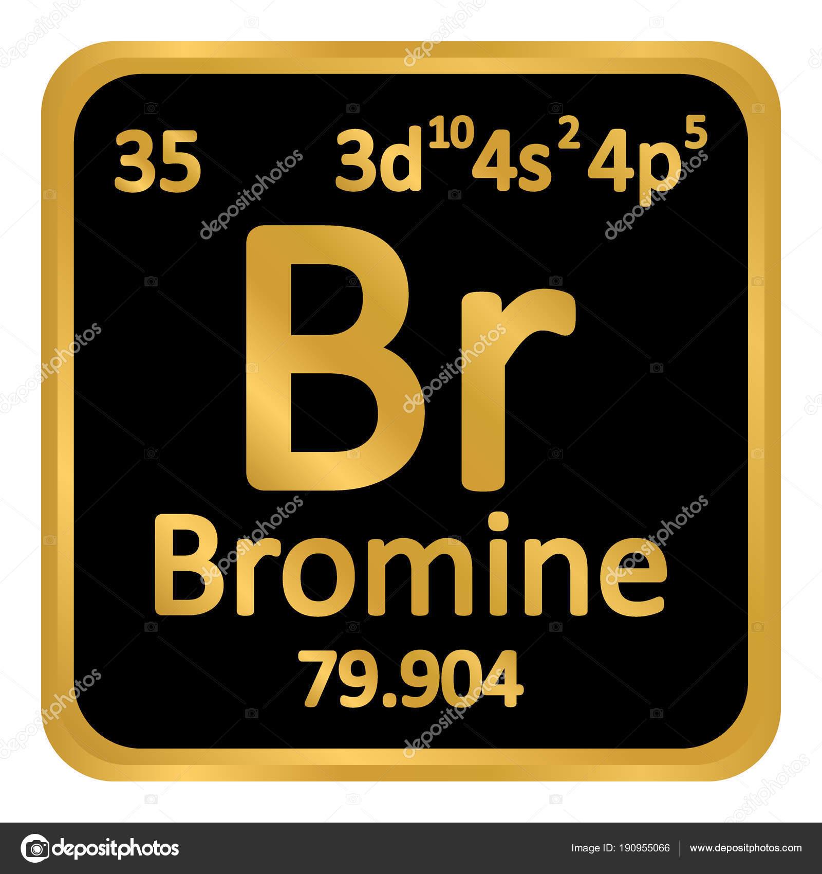 Icono de tabla periodica elemento bromo vector de stock konstsem icono de tabla periodica elemento bromo vector de stock urtaz Image collections