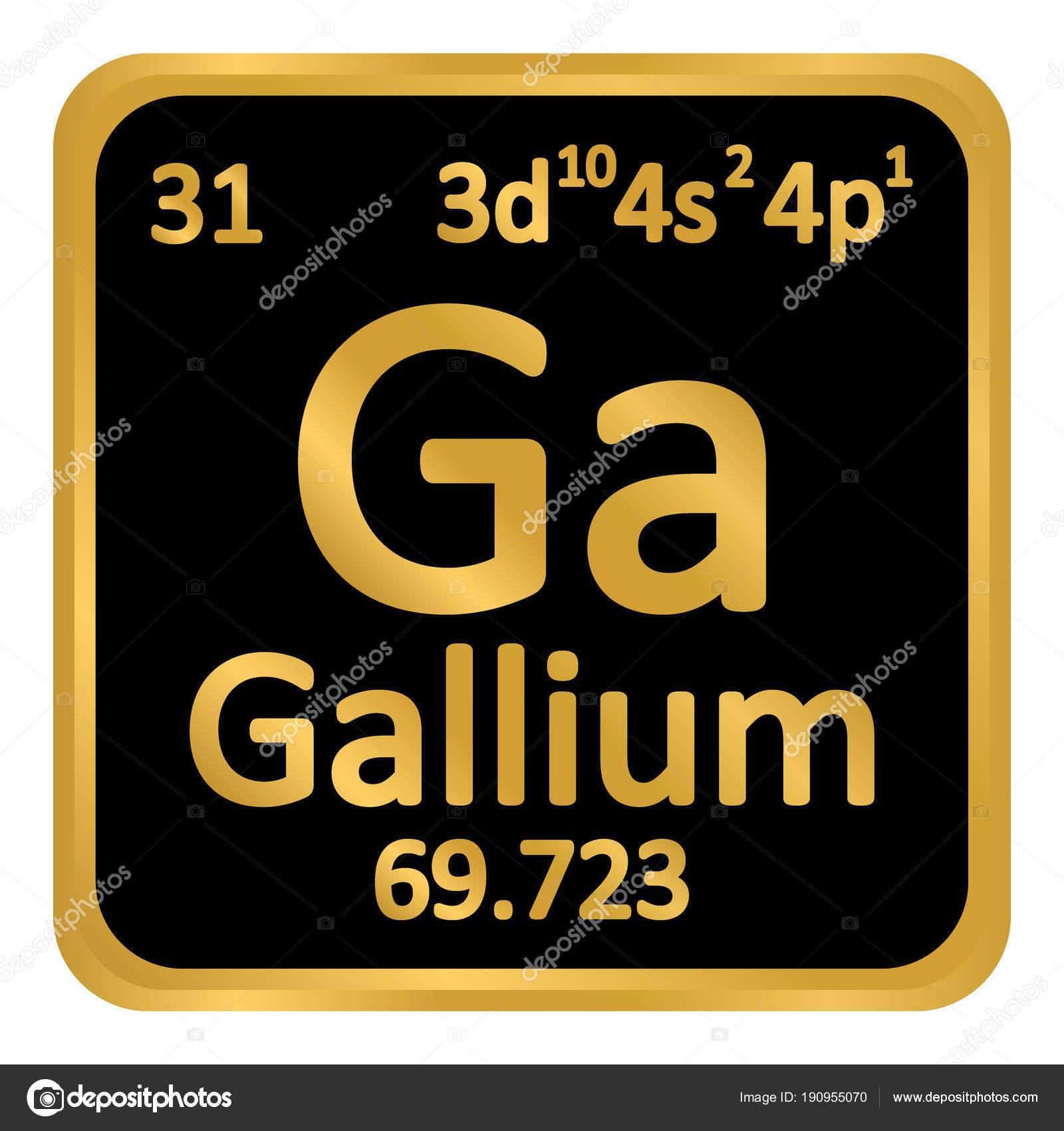 icono de tabla periodica elemento galio archivo imgenes vectoriales - Tabla Periodica De Los Elementos Galio