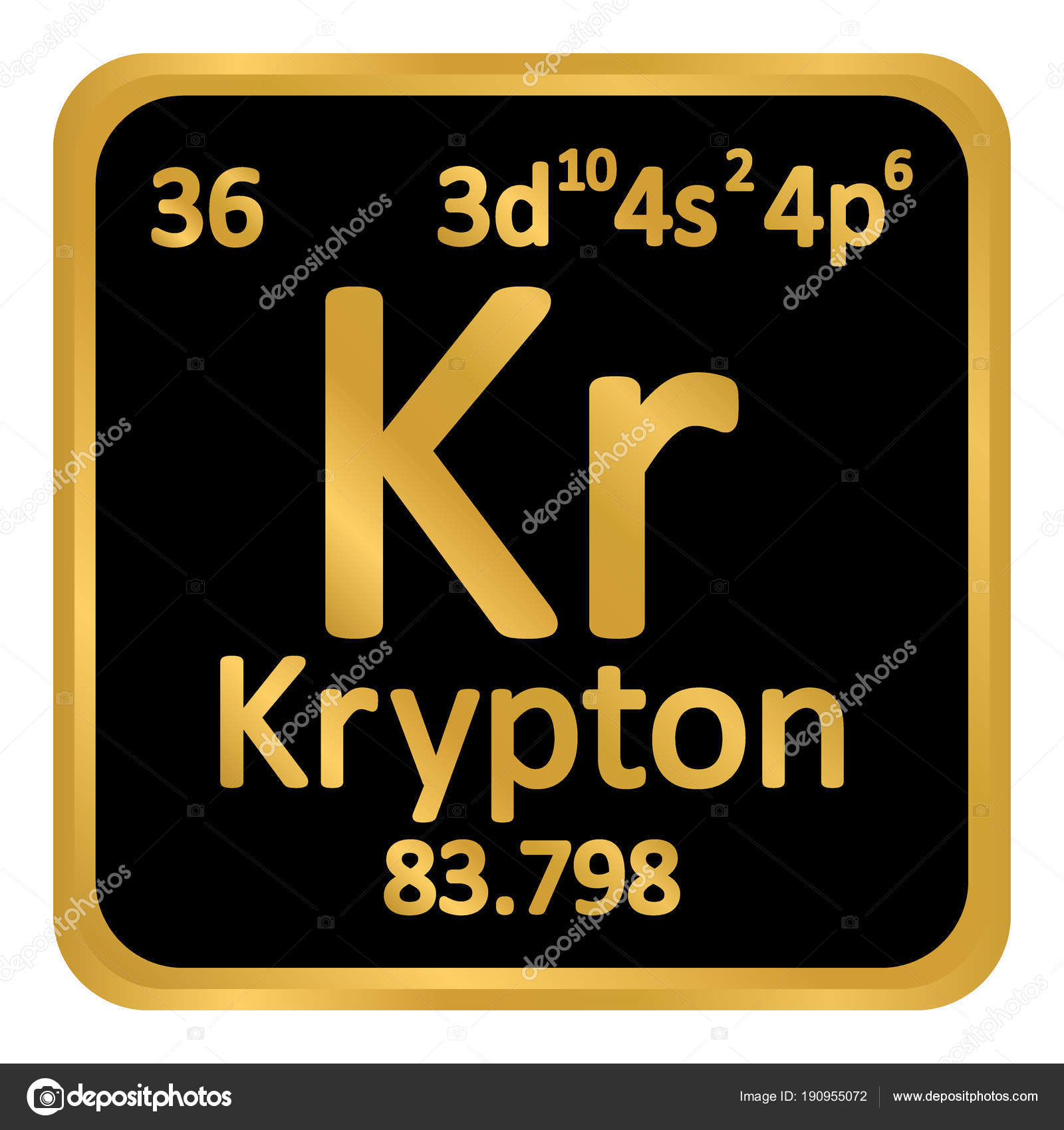 Periodic table element krypton icon stock vector konstsem periodic table element krypton icon stock vector urtaz