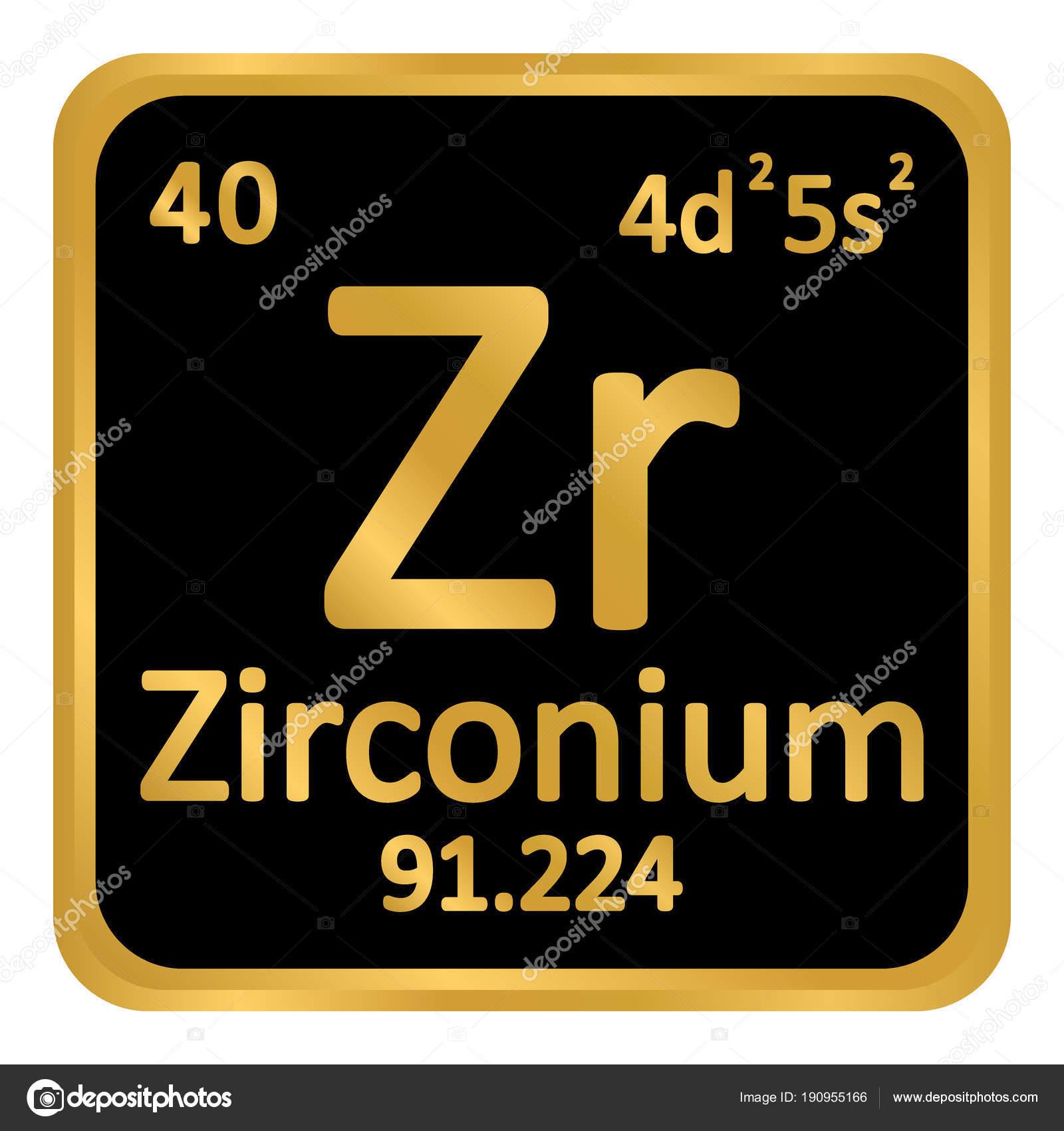 Icono de circonio de elemento de tabla peridica archivo imgenes tabla periodica elemento zirconio el icono sobre fondo blanco ilustracin de vector vector de konstsem urtaz Choice Image