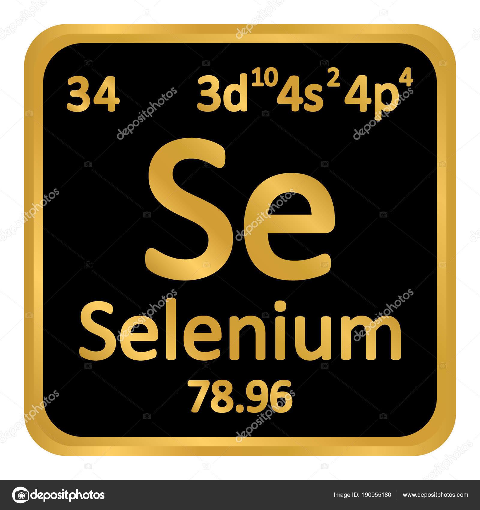 Icono de selenio de elemento de tabla peridica archivo imgenes tabla periodica elemento selenio el icono sobre fondo blanco ilustracin de vector vector de konstsem urtaz Image collections