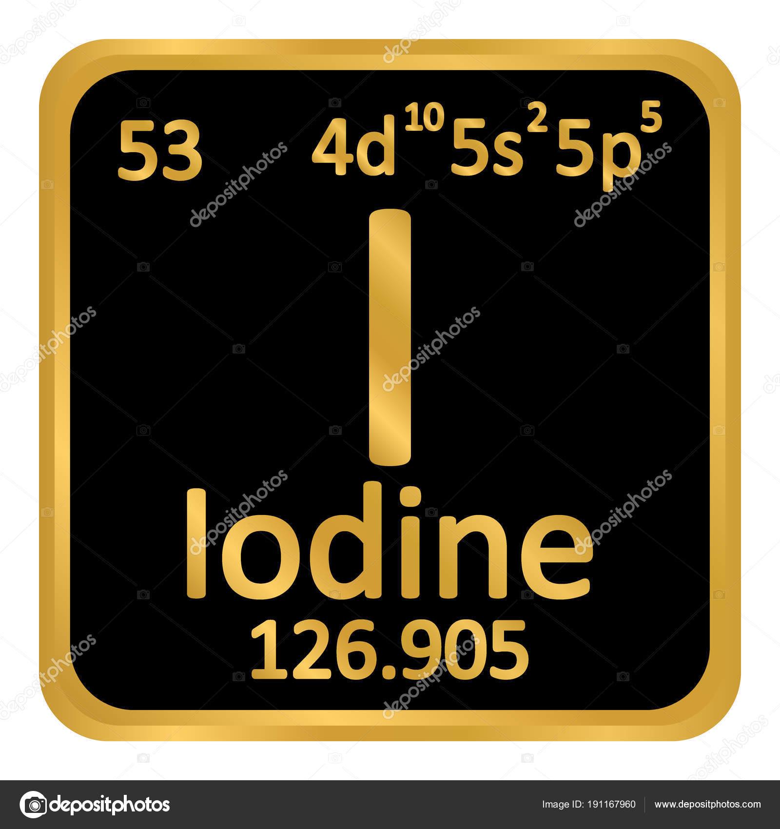 Icono de yodo de elemento de tabla peridica archivo imgenes tabla periodica elemento yodo el icono sobre fondo blanco ilustracin de vector vector de konstsem urtaz Images