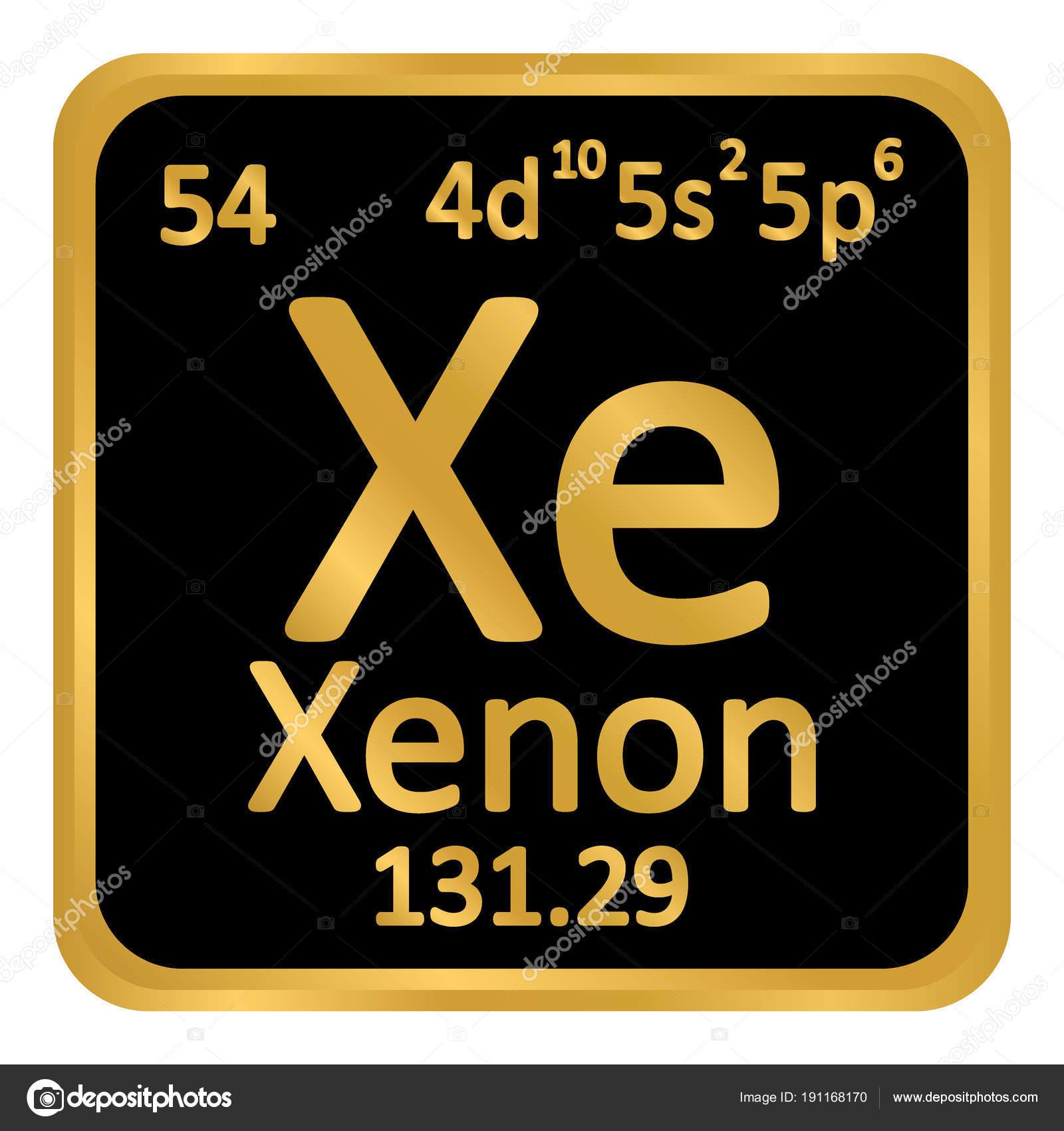 Icono de xenn de elemento de tabla peridica archivo imgenes tabla periodica elemento xenn el icono sobre fondo blanco ilustracin de vector vector de konstsem urtaz Images