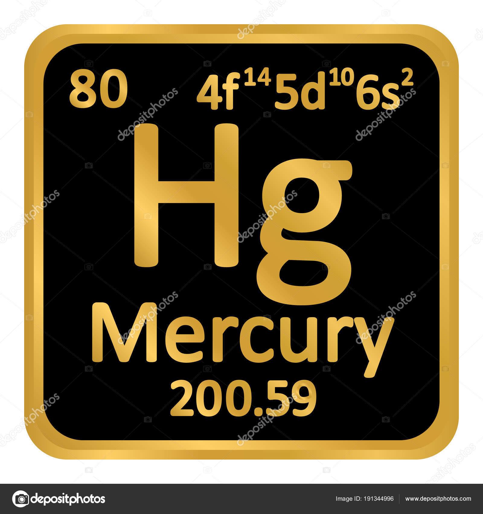 Icono de mercurio de elemento de tabla peridica vector de stock tabla periodica elemento mercurio el icono sobre fondo blanco ilustracin de vector vector de konstsem urtaz Gallery