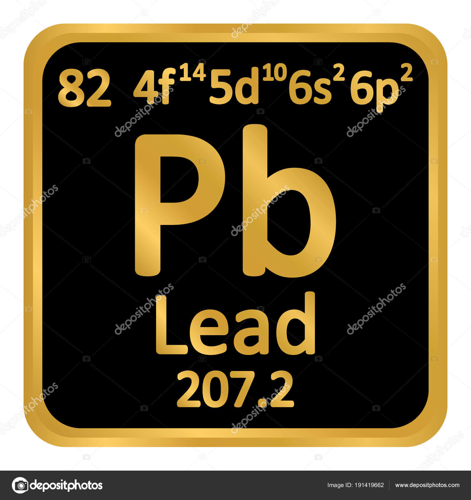 Periodic table element lead icon stock vector konstsem 191419662 periodic table element lead icon stock vector urtaz Choice Image