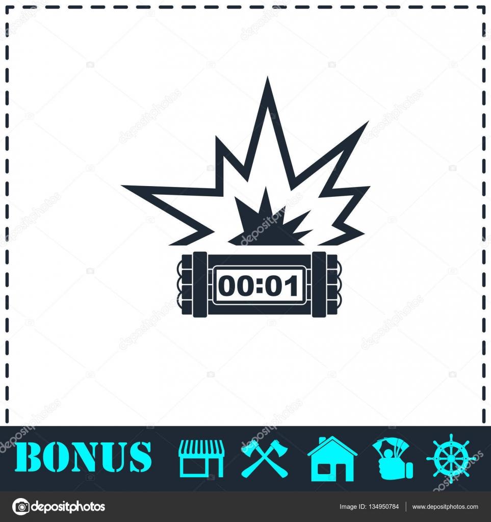 Big Bang Flash Symbol Flach Stockvektor Demjan 134950784