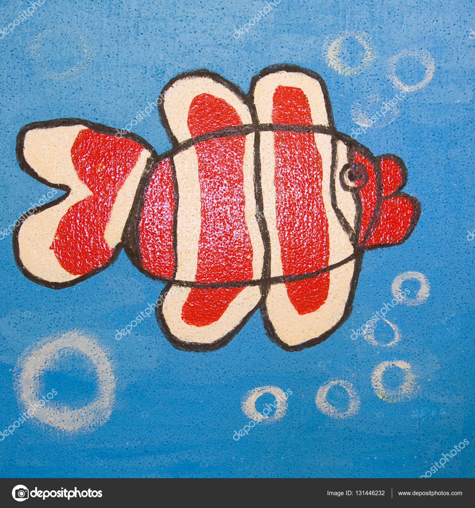Kırmızı Balık Boyama Stok Foto Afonskaya 131446232