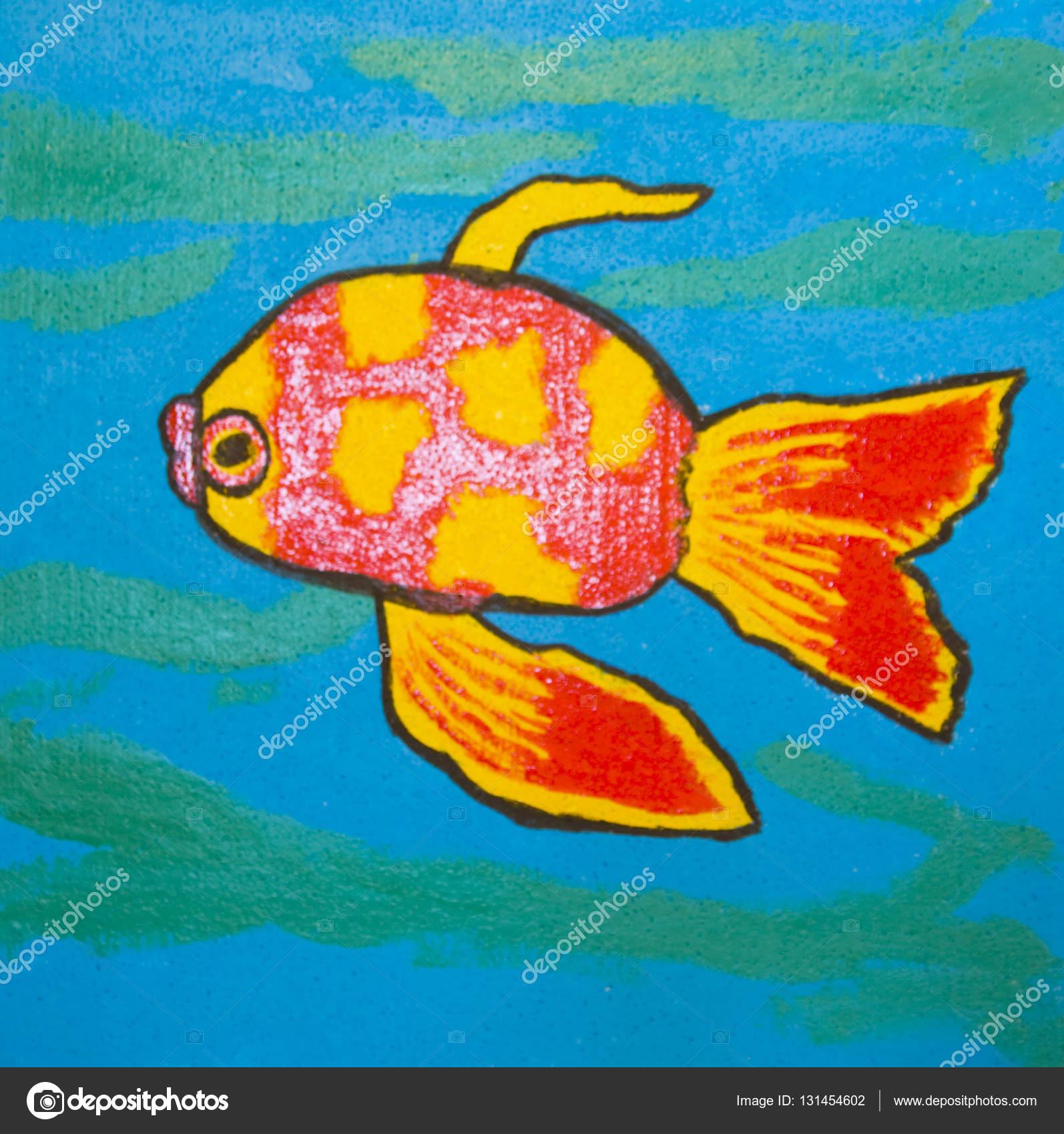 Peces rojos, pintura — Foto de Stock