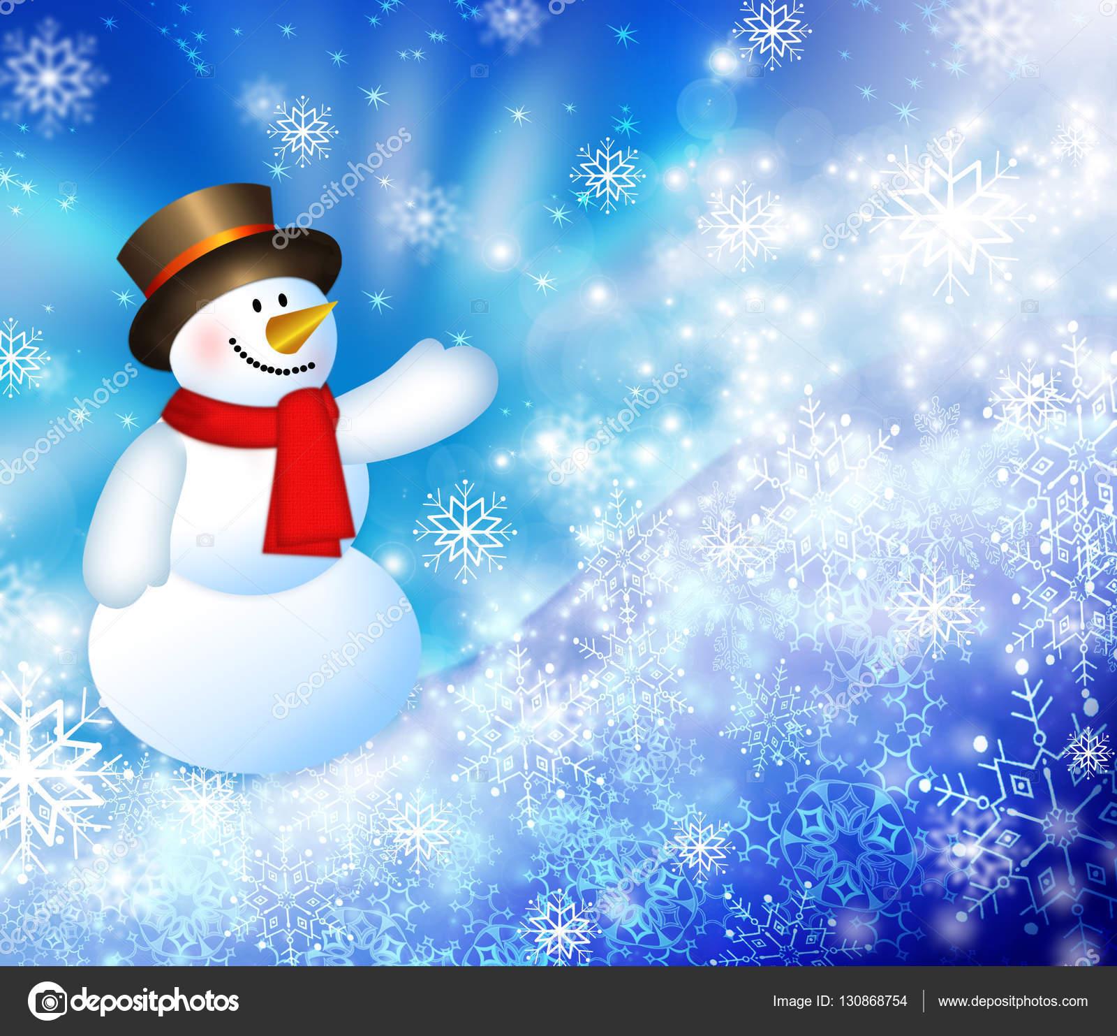 Weihnachten-Schneemann-Hintergrund — Stockfoto © stori #130868754