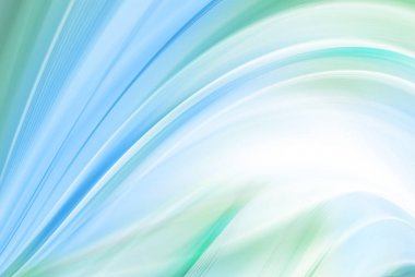 Abstract blue-green background background, beautiful lines and blur stock vector