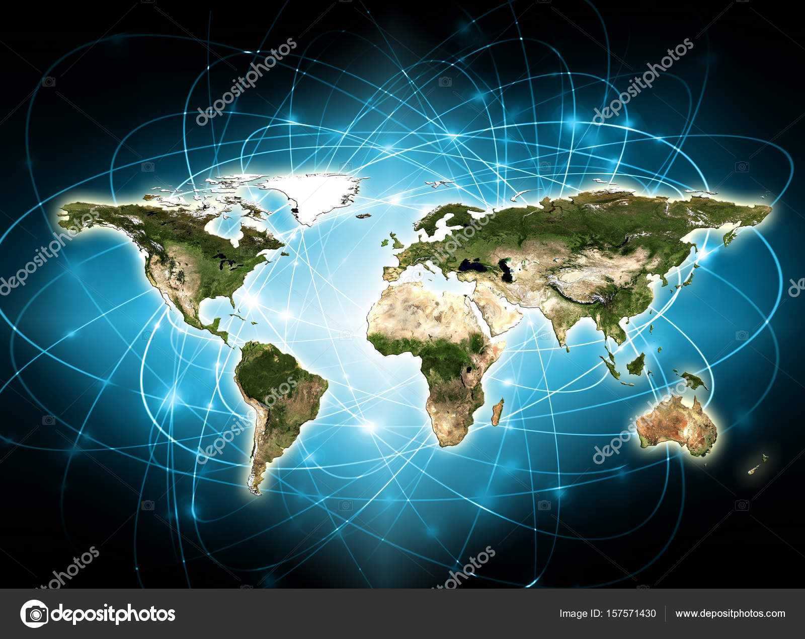 World map on a technological background best internet concept of world map on a technological background best internet concept of global business elements of gumiabroncs Image collections