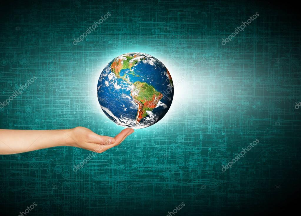 Earth from Space. Best Internet Concept of global business from concepts series. Elements of this image furnished by NASA. 3D illustration
