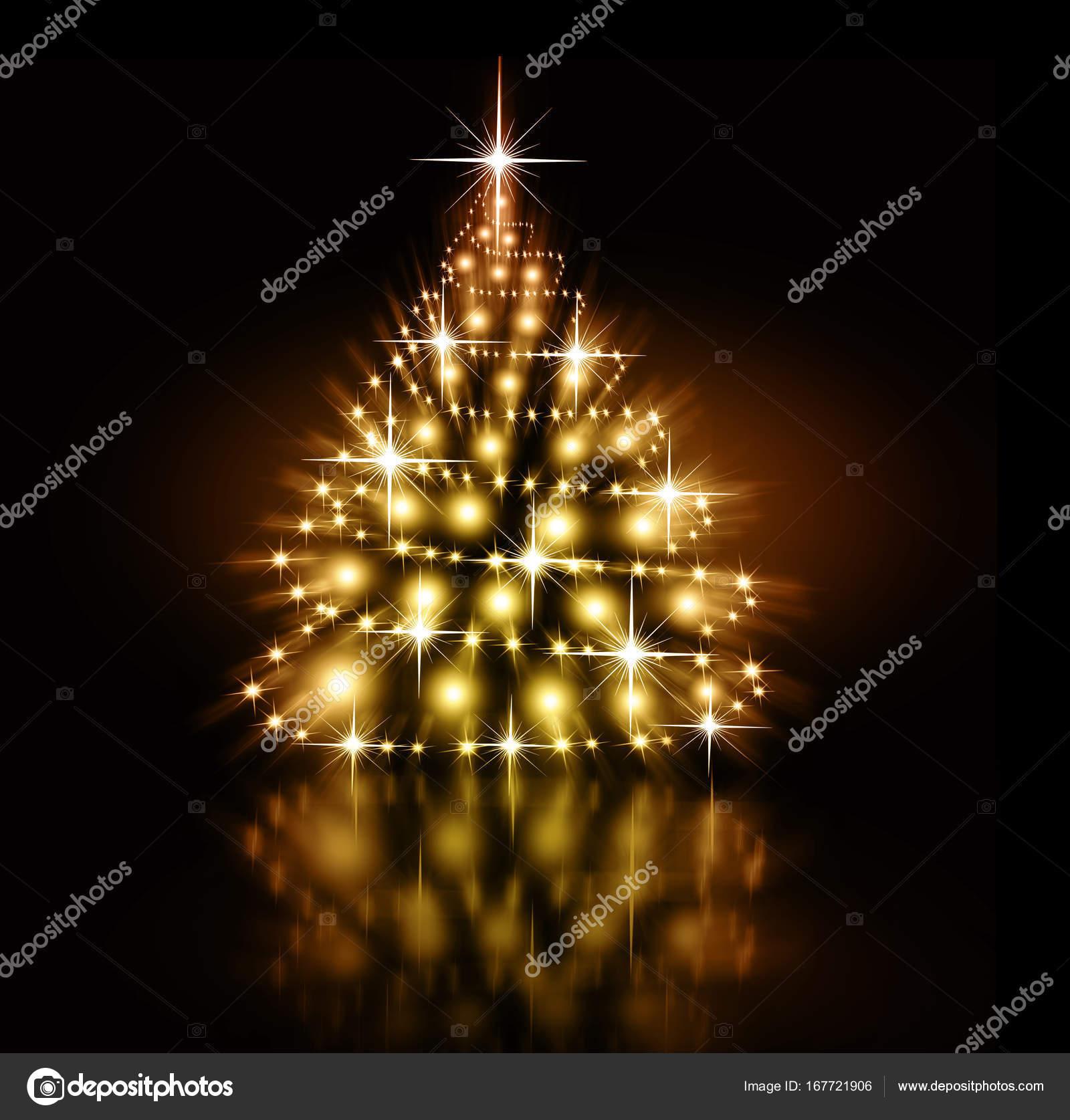 Christmas gold Tree background — Stock Photo © stori #167721906