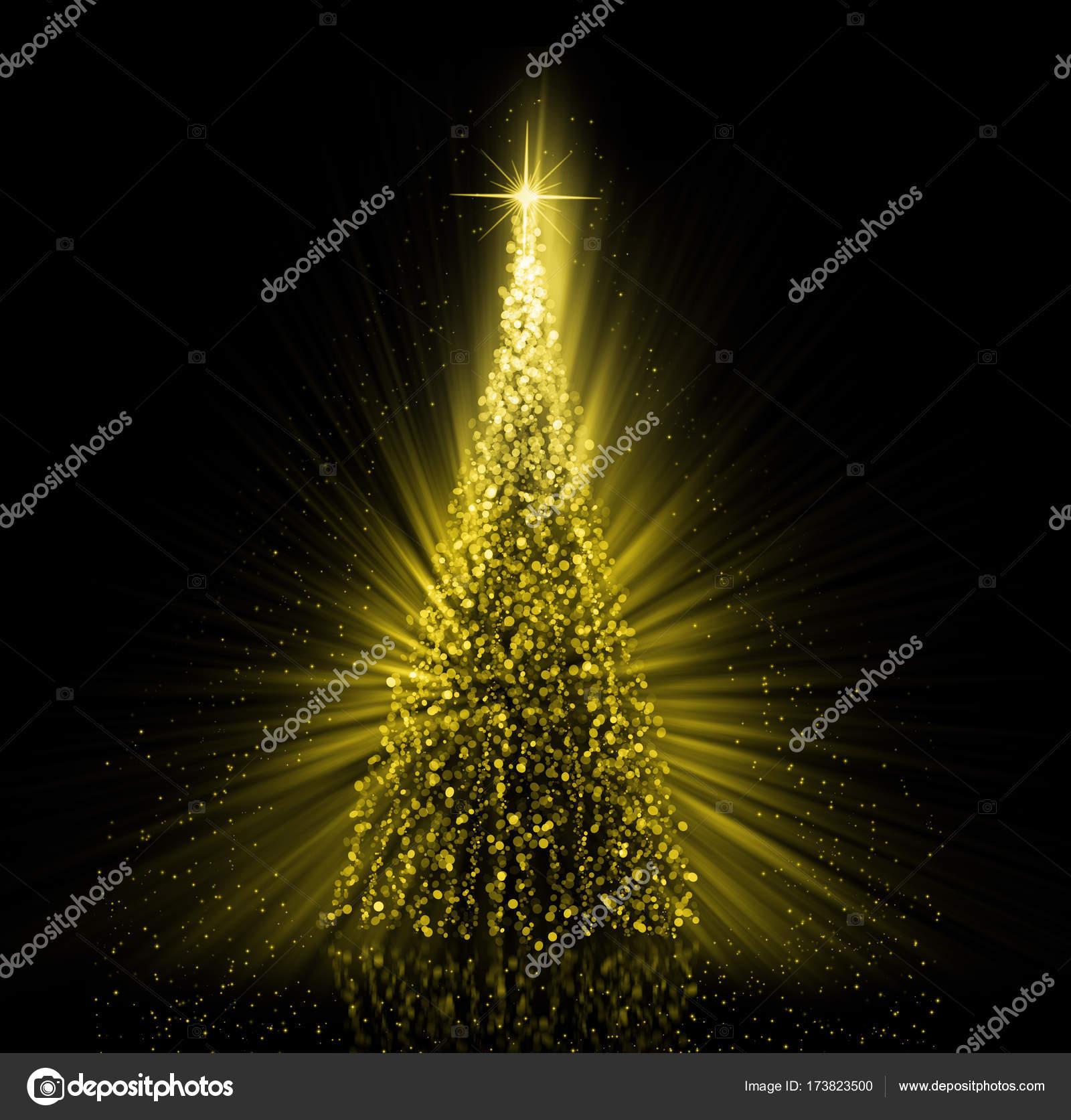 Christmas gold Tree background — Stock Photo © stori #173823500