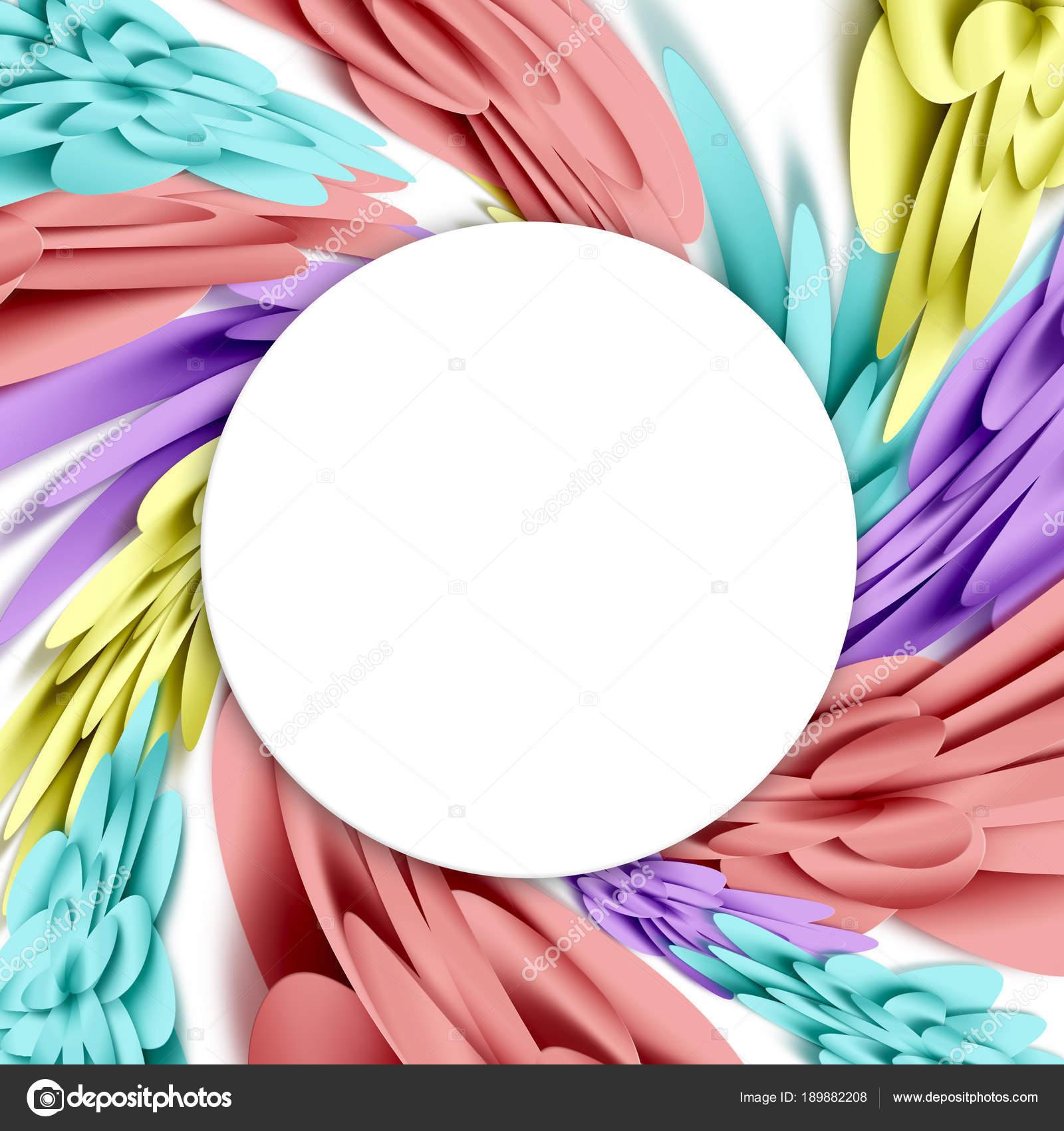 Blumen, 3d Hintergrund mit weißem Hintergrund. Vorlagen für ...
