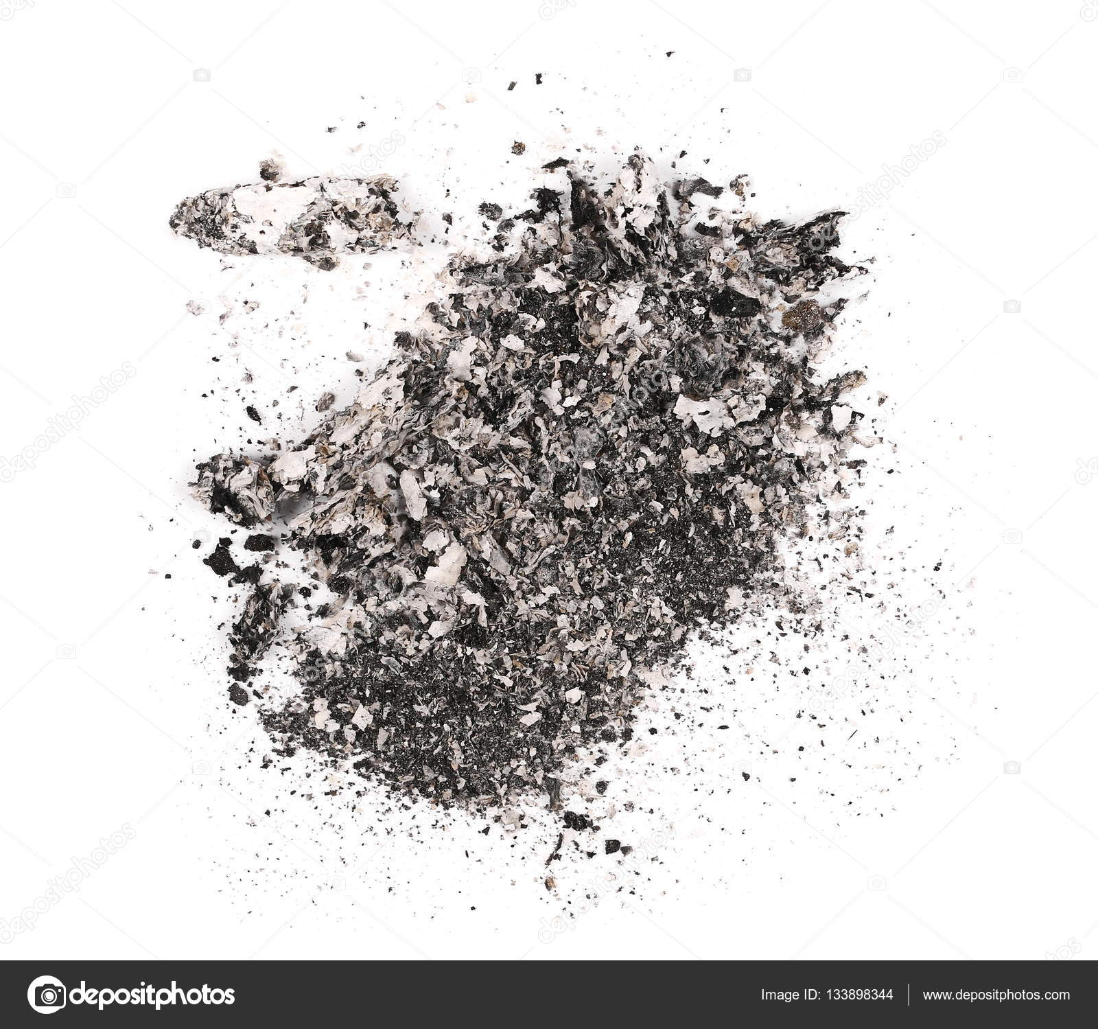 Cigarette Ash Isolated On White Background Texture Stock Photo C Dusan964 133898344