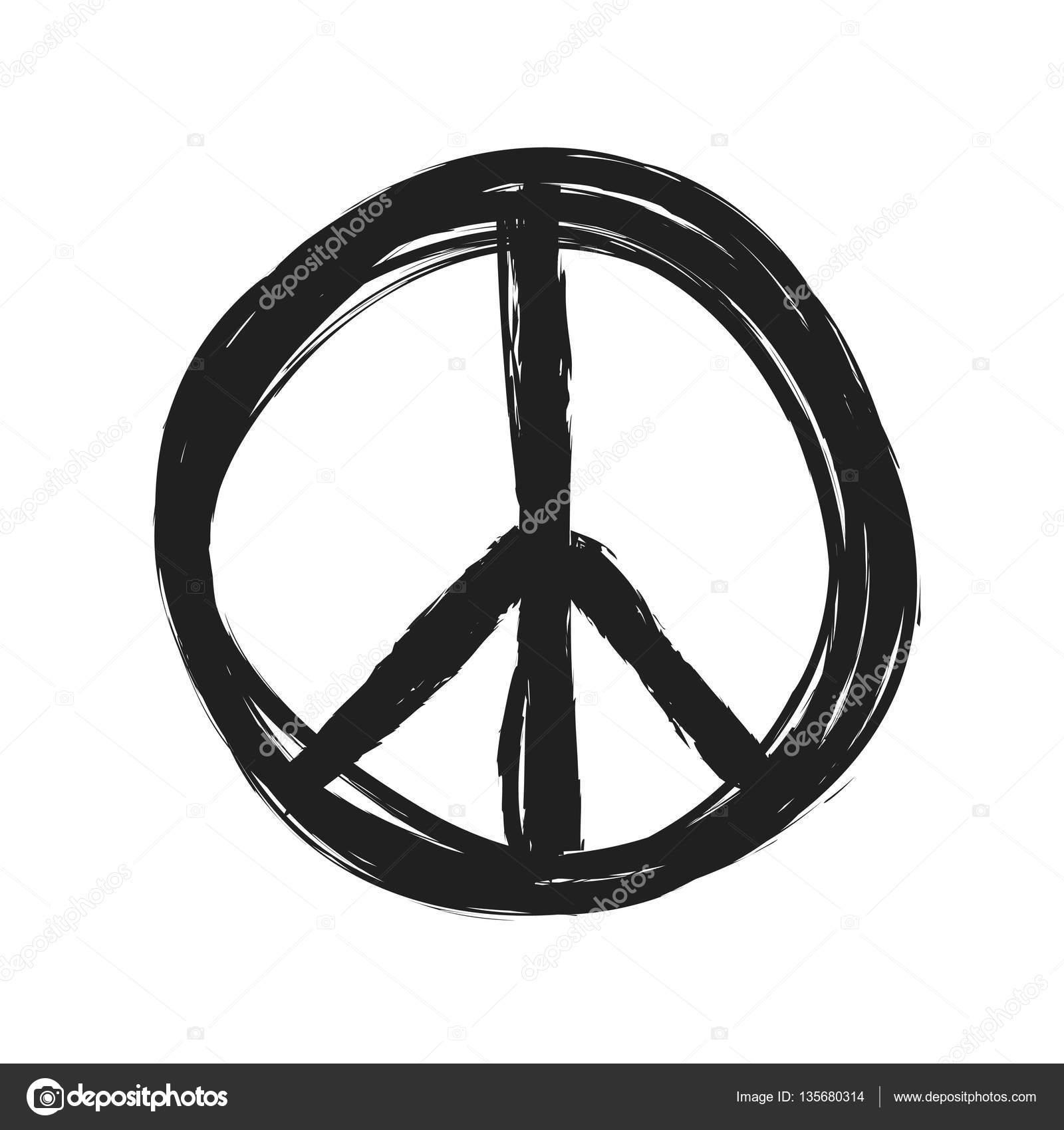 Grunge Peace Symbol Icon Stock Photo Dusan964 135680314