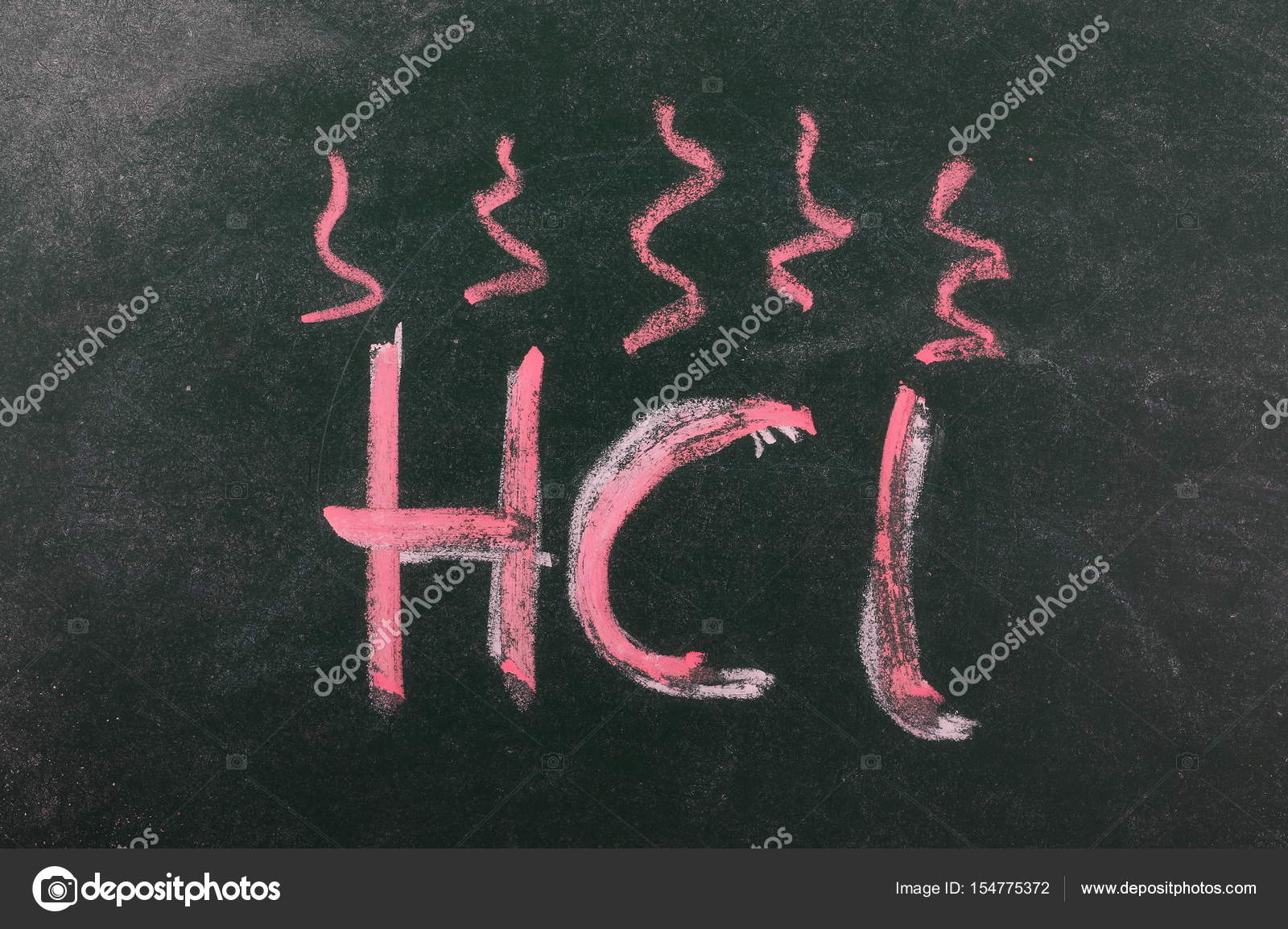 Hydrochloric Acid Symbol Hcl Icon Chalkboard Blackboard Texture