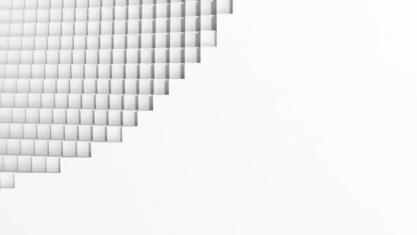 Zářivě bílý opakování animované pozadí kostky. HD rozlišení. Skvělé pro přechody nebo text a obrázky