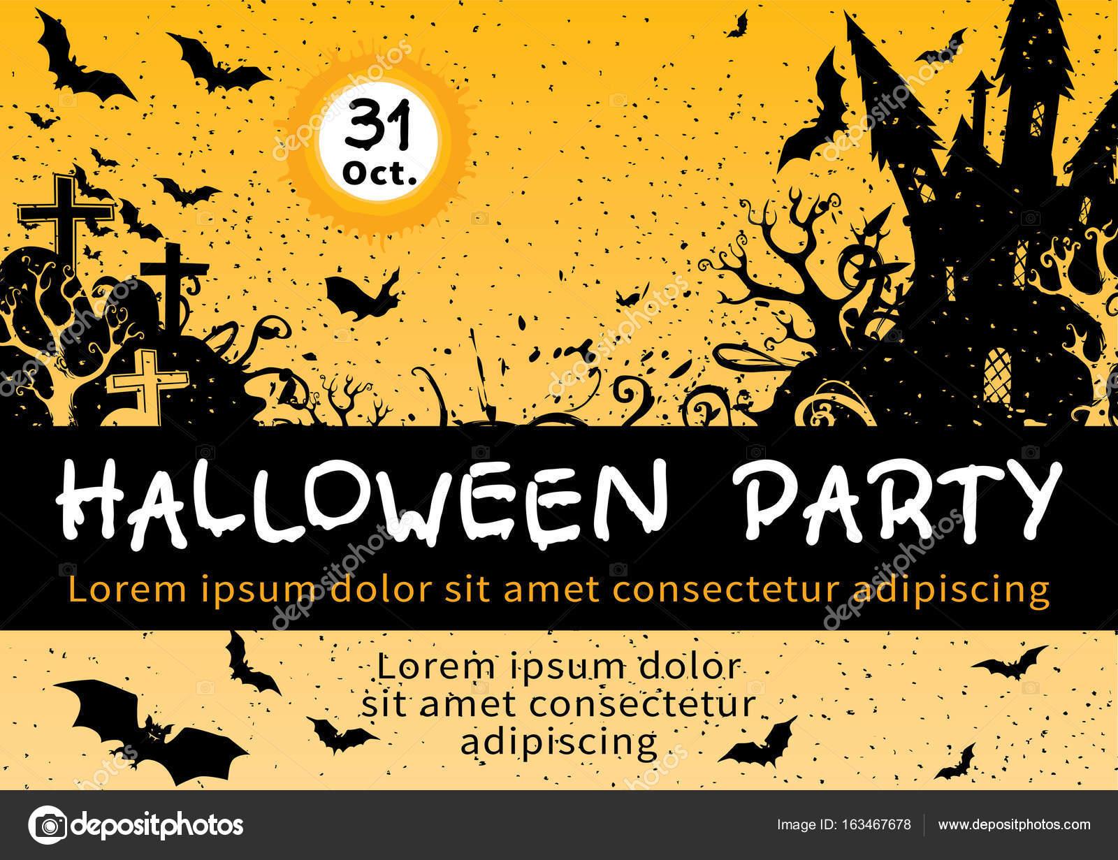 Halloween invitation card design stock vector songmi 163467678 halloween invitation card design stock vector stopboris Choice Image