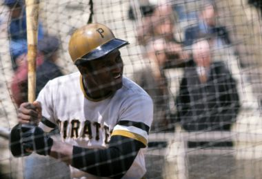Roberto Clemente of the Pittsburgh Pirates.