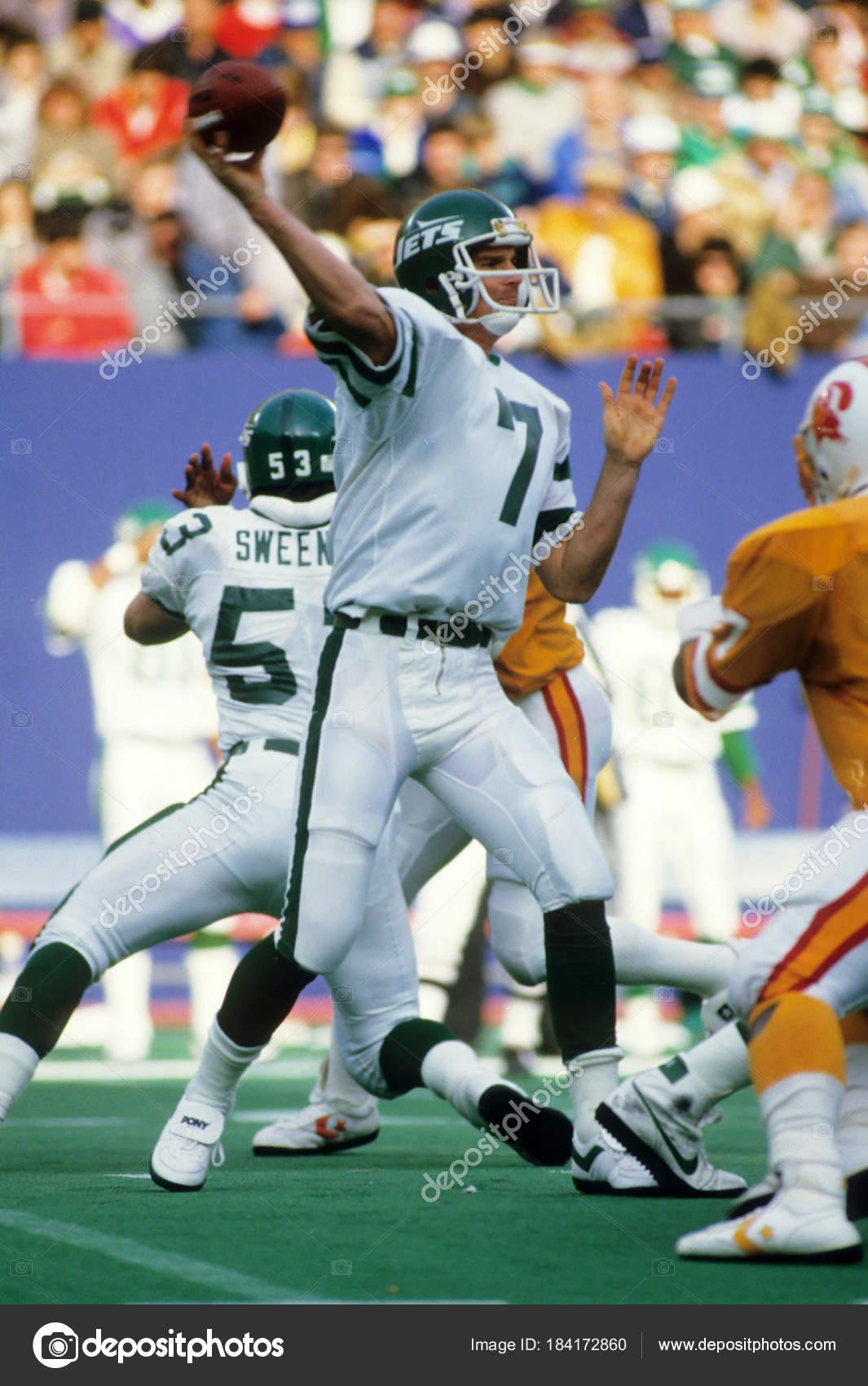 ken brien quarterback action new york jets stock editorial photo