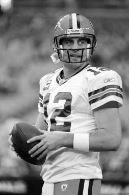 Aaron Rodgers Quarterback for the GreenBay Packers.