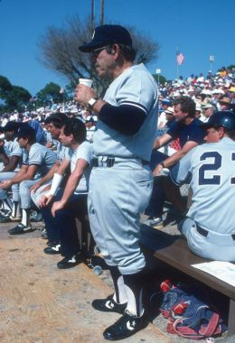Yogi Berra of the New York Yankees.
