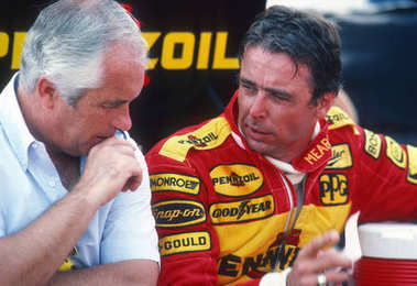 Roger Penske and Rick Mears Indy Car Driver.