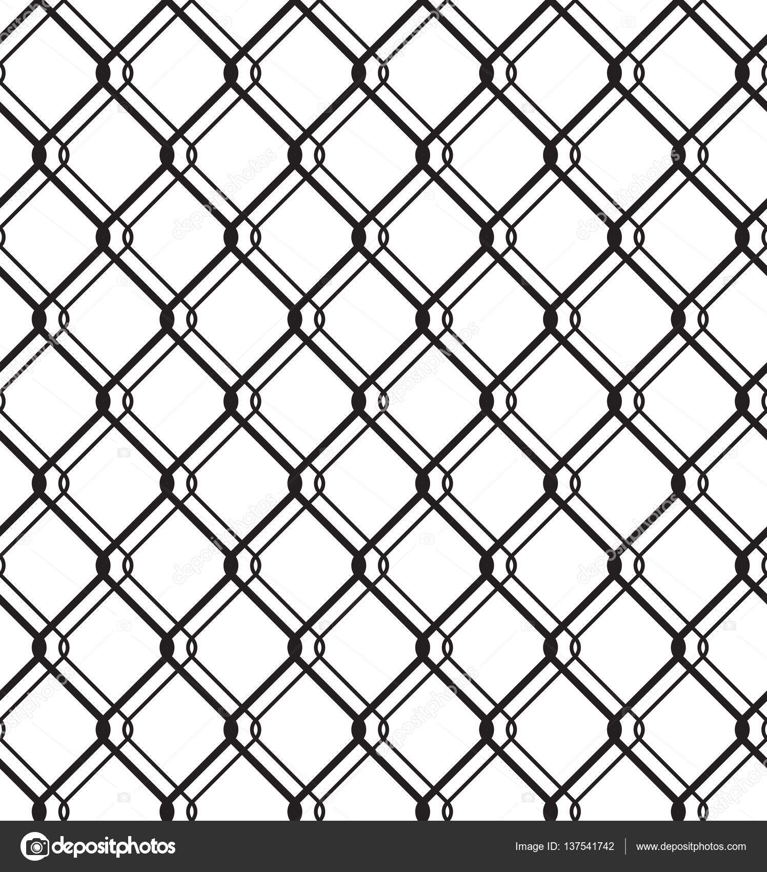 Wired Metallic Fence Seamless Pattern — Stock Vector © creativika ...