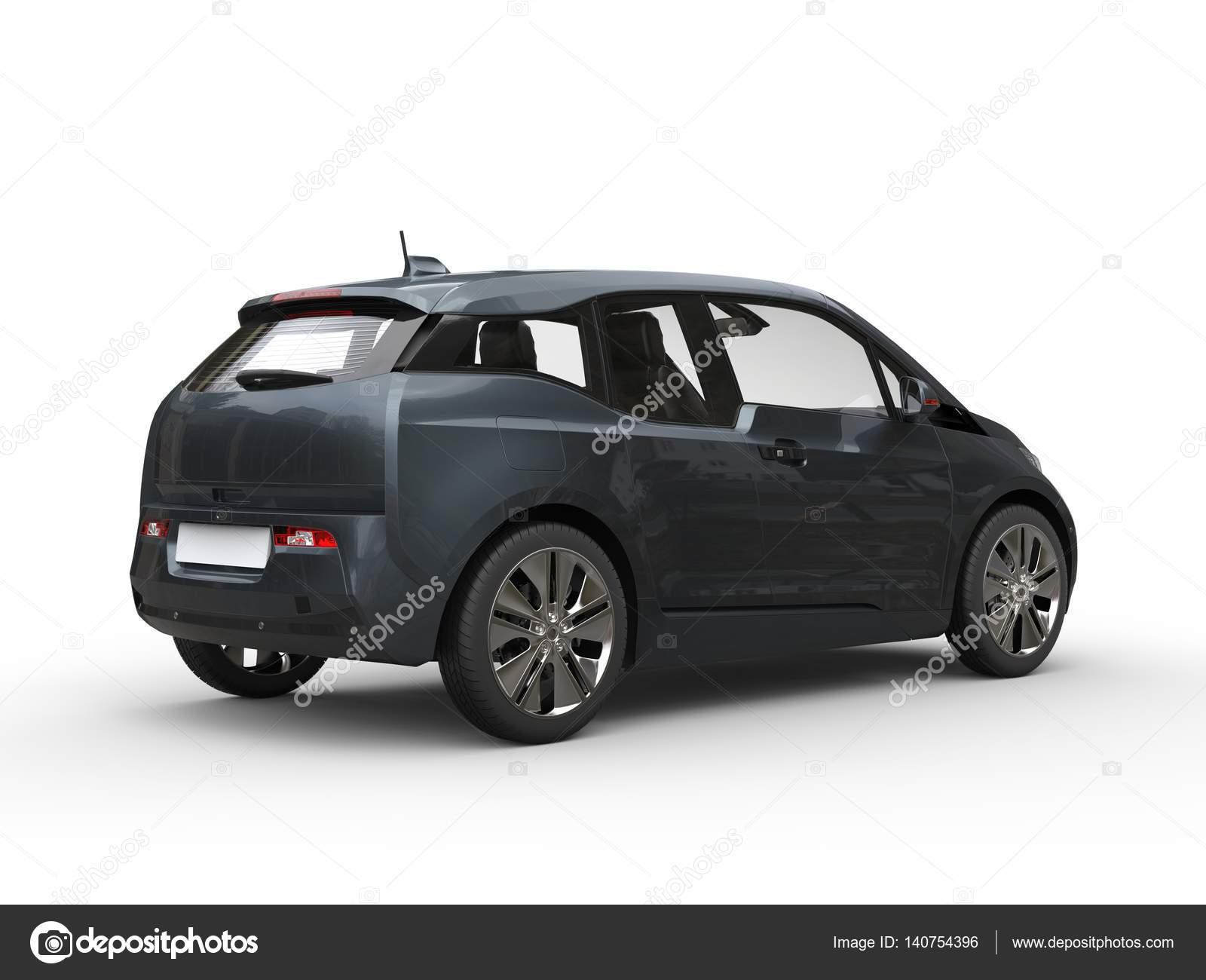 Leisteen Grijs Kleine Elektrische Auto Stockfoto C Trimitrius