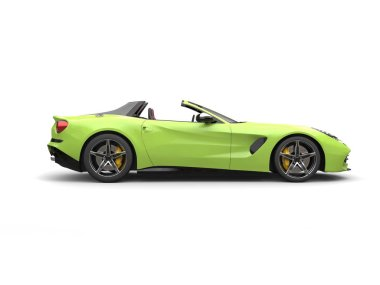 Green toxic modern cabriolet sports car - side view