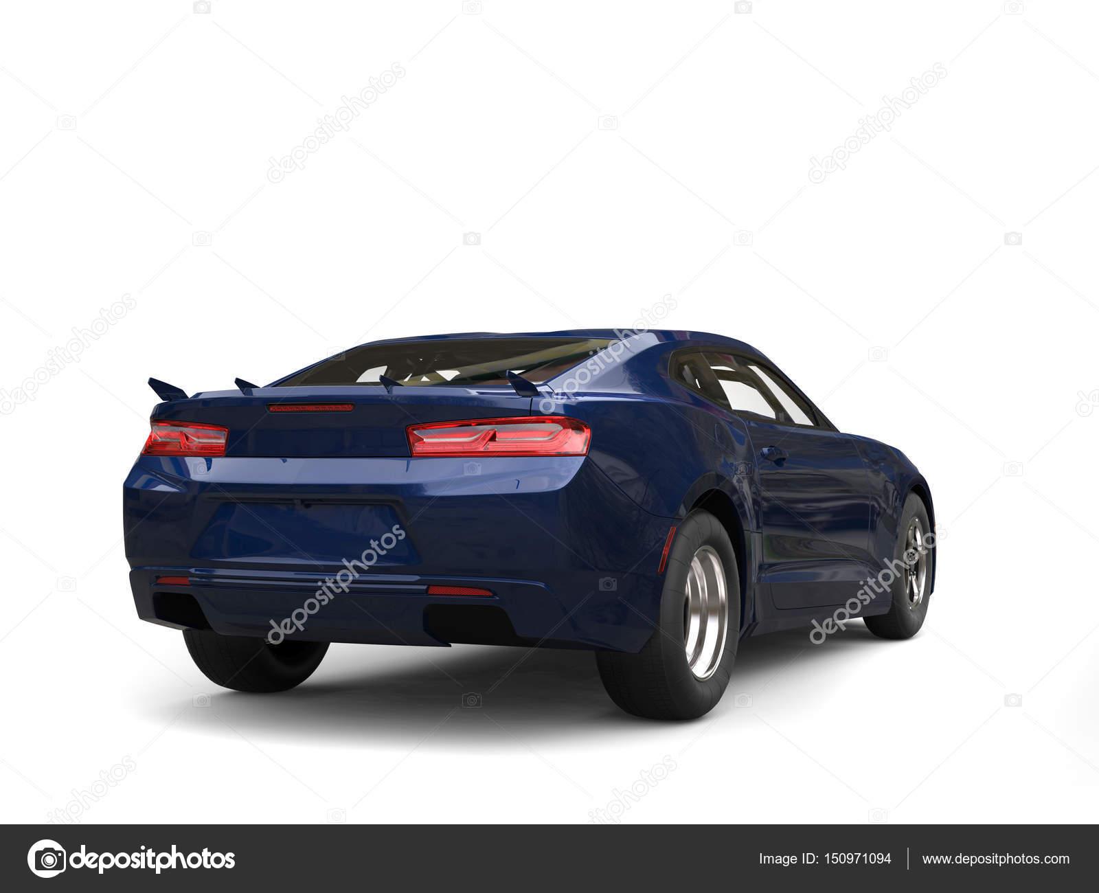 Dark Midnight Blue Modern Car Rear Side View Stock Photo Image By C Trimitrius 150971094