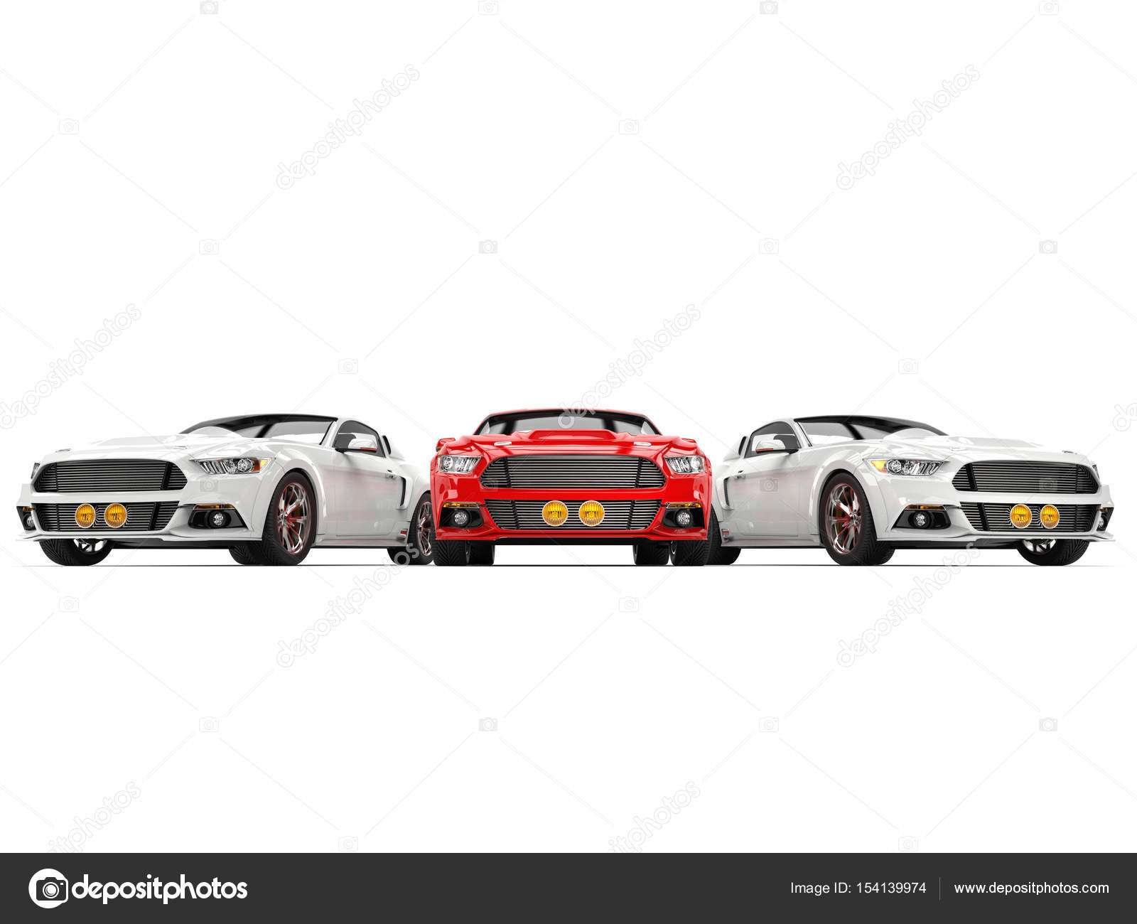 Three super cool muscle cars — Stock Photo © Trimitrius #154139974