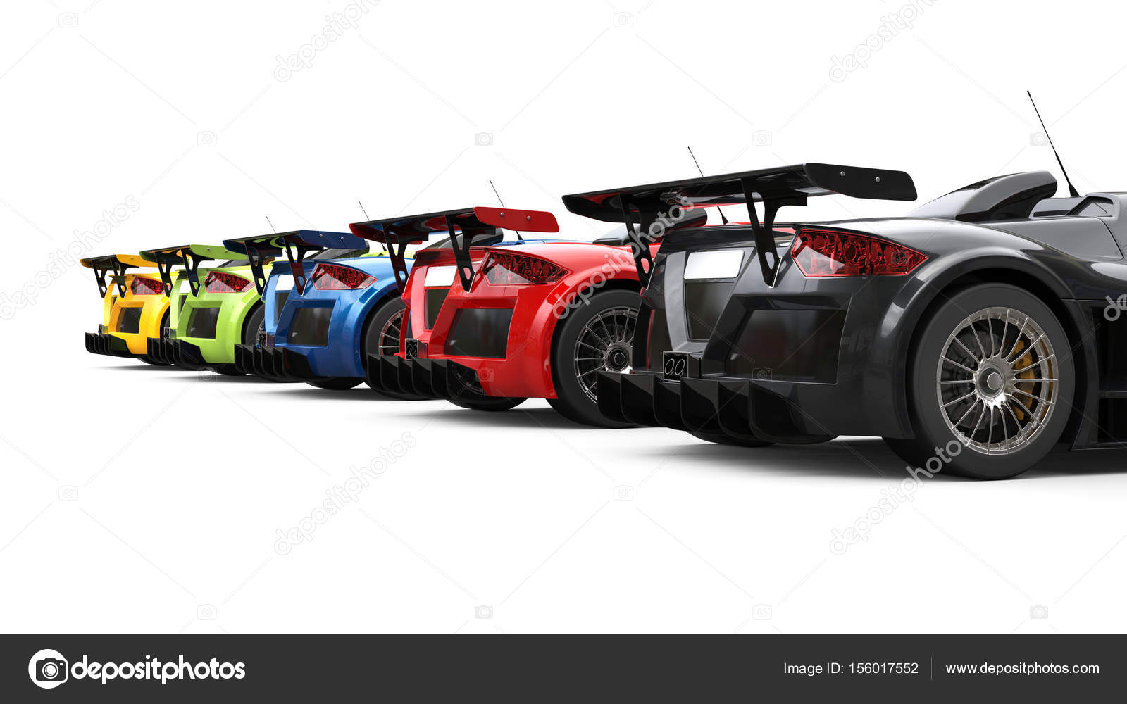 Colori Vernici Auto : Auto da corsa impressionante vari colori vernici vista