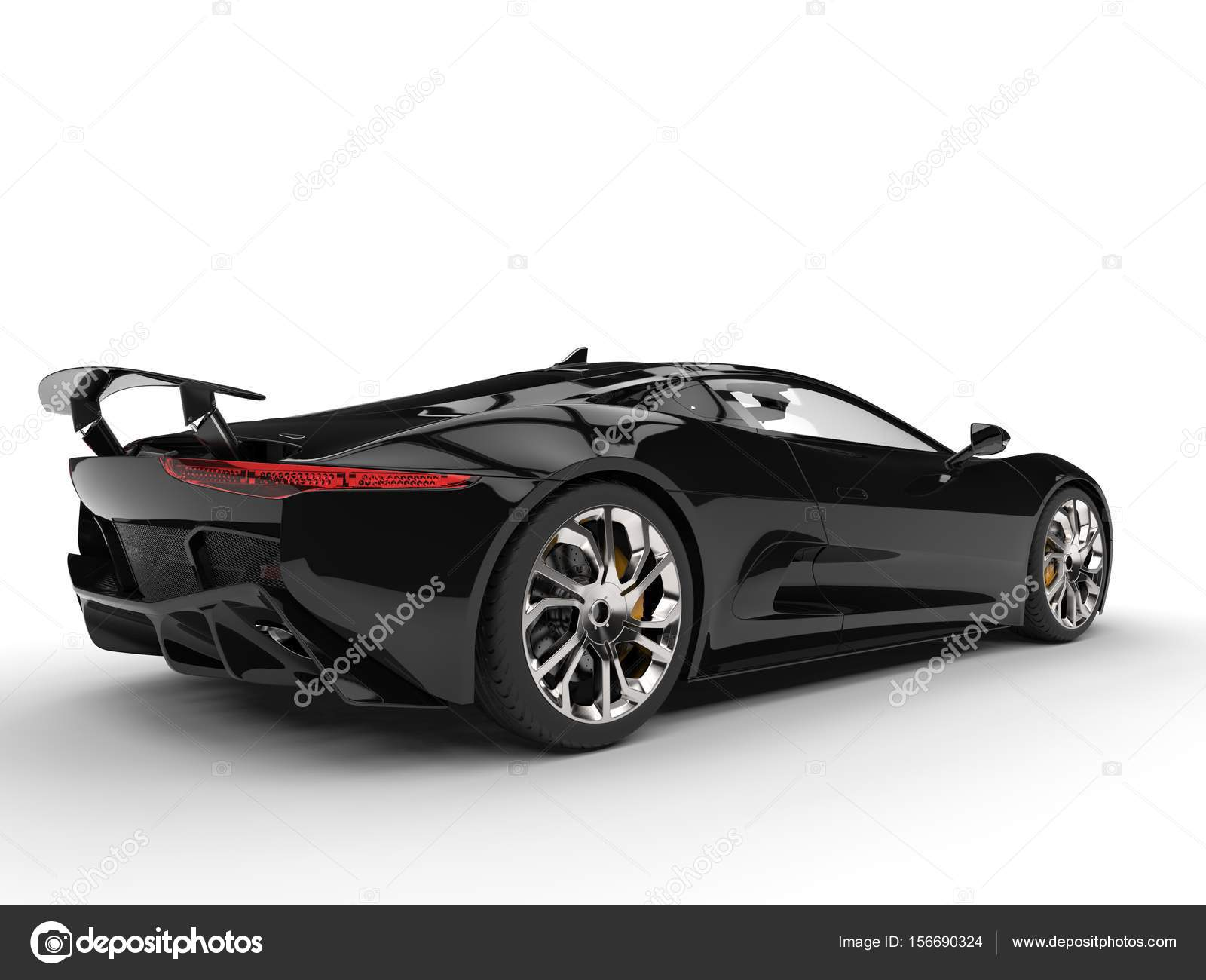 Great Jet Black Modern Elegant Super Car Stock Photo C Trimitrius