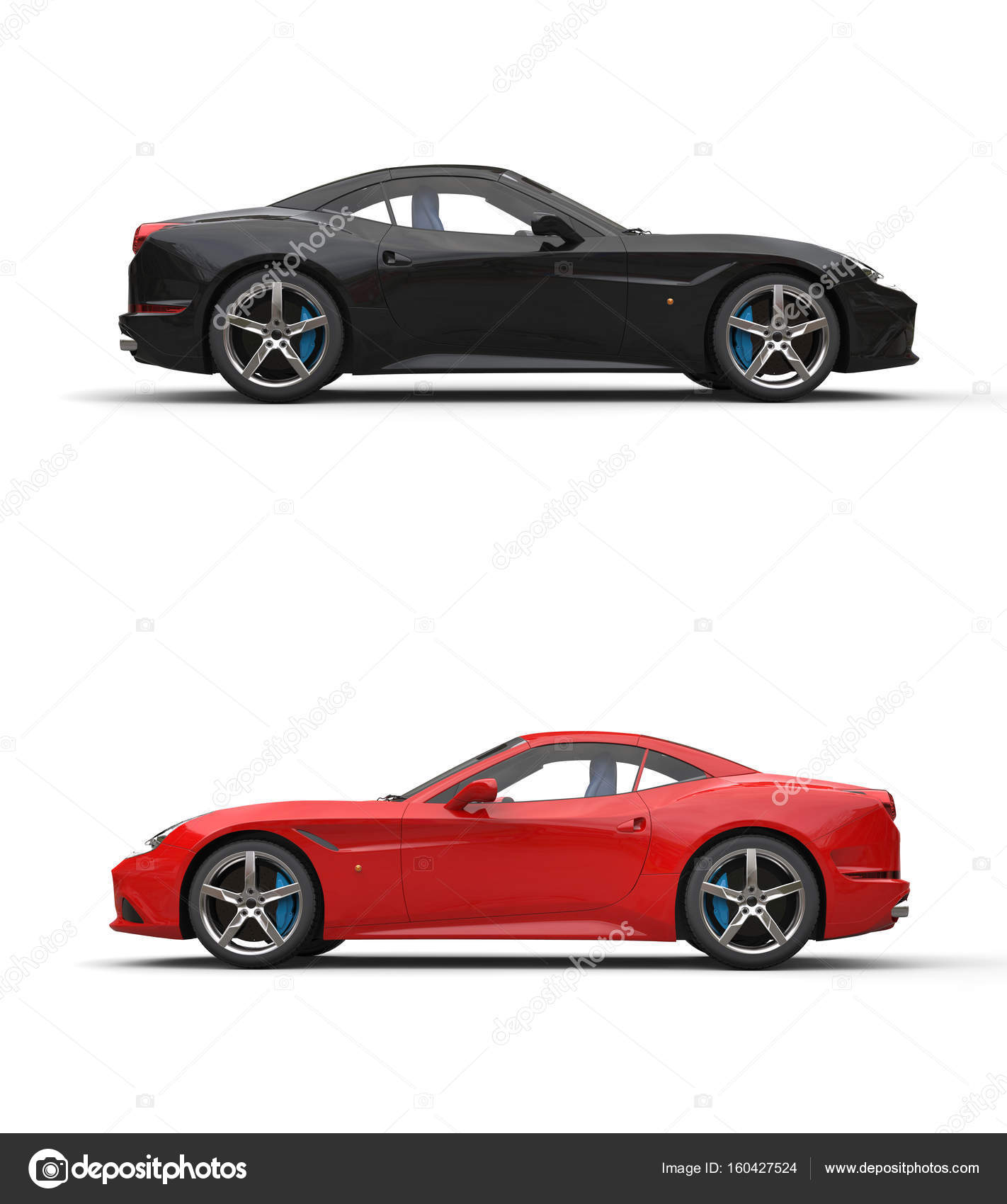 Black And Red Sport Cars Side View Stock Photo C Trimitrius 160427524