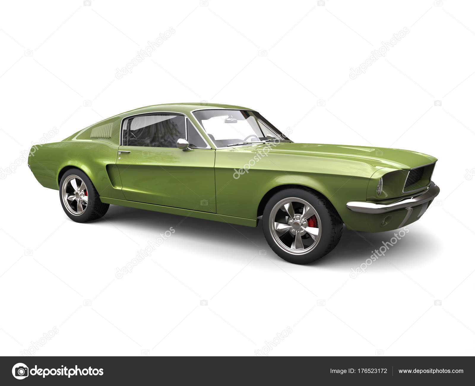 große amerikanische oldtimer muscle car hellen armee grün