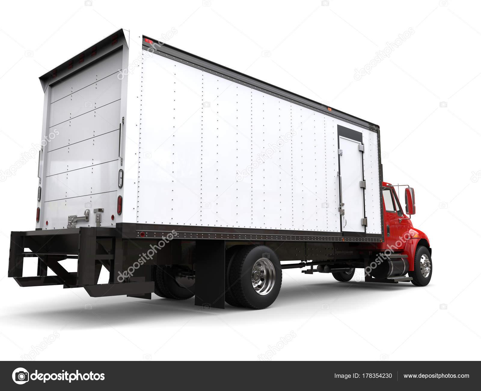 Kühlschrank Im Auto Transportieren : Roten kühlschrank lkw rückansicht u stockfoto trimitrius