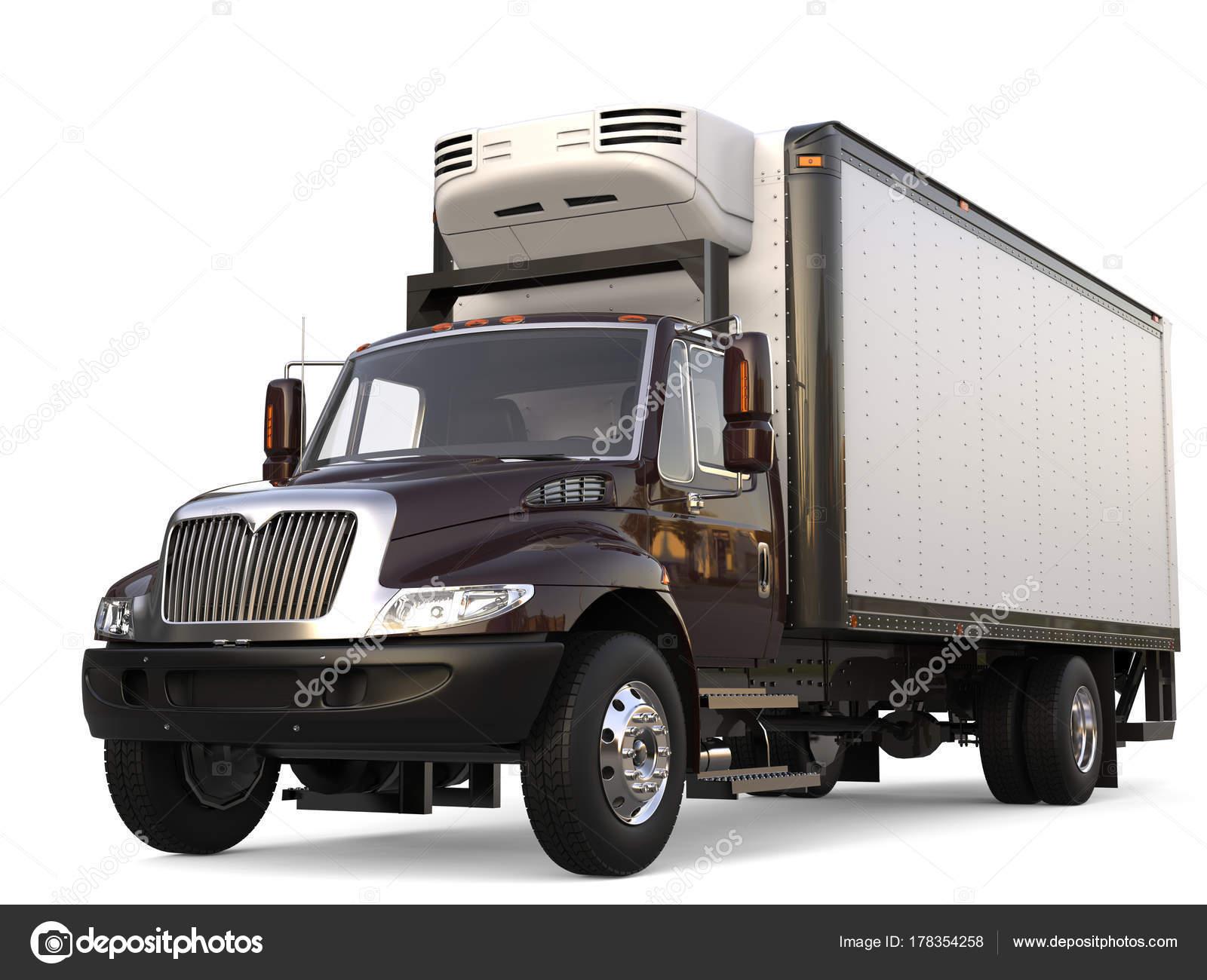 Kühlschrank Mit Auto Transportieren : Dunkel braun kühlschrank lkw ladung u stockfoto trimitrius
