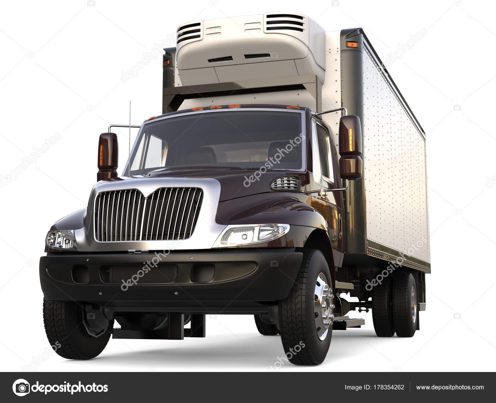 Amerikanischer Kühlschrank Transportieren : Dunkel braun kühlschrank lkw ladung closeup erschossen u stockfoto