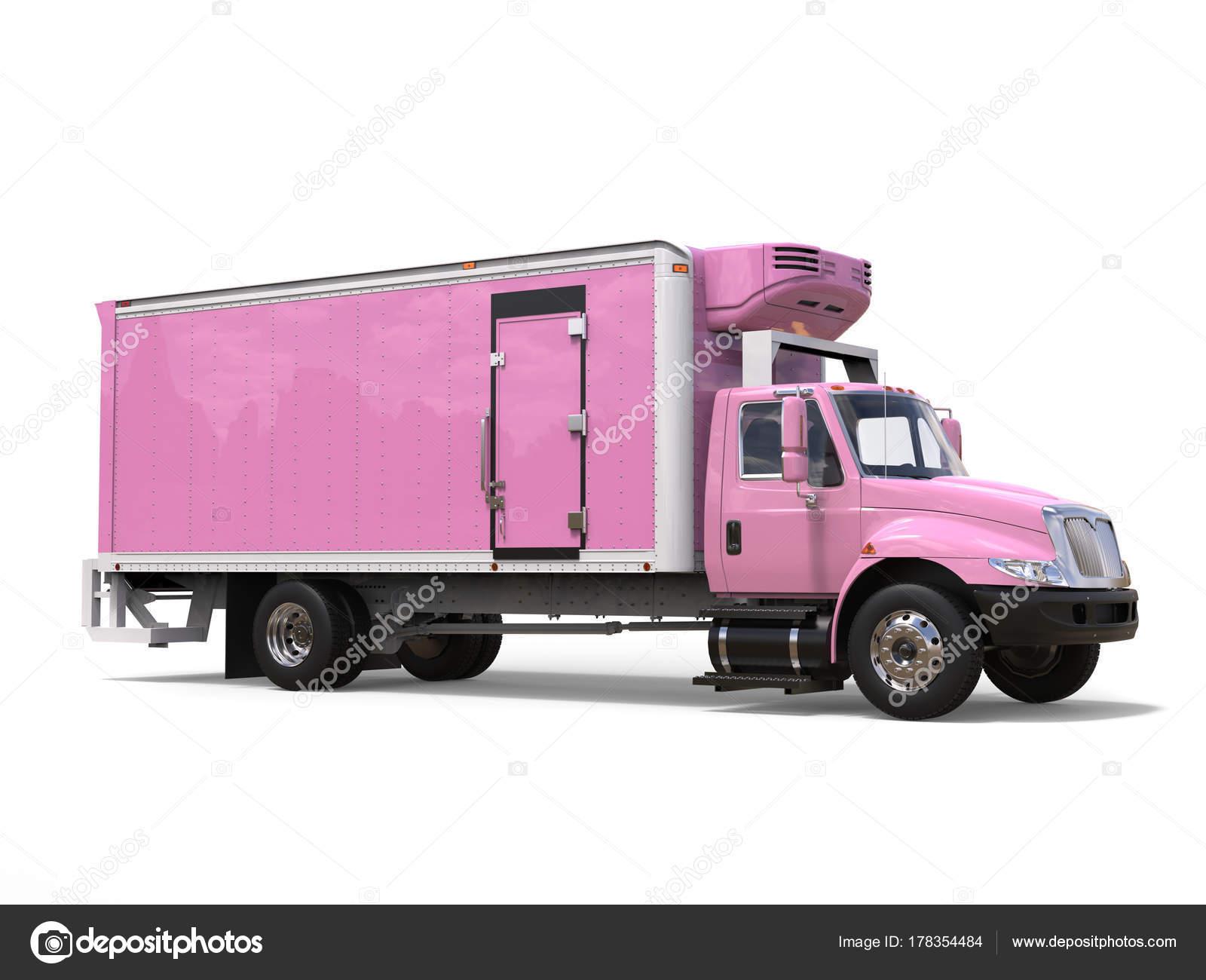 Kühlschrank Rosa : Lkw rosa ladung kühlschrank u stockfoto trimitrius