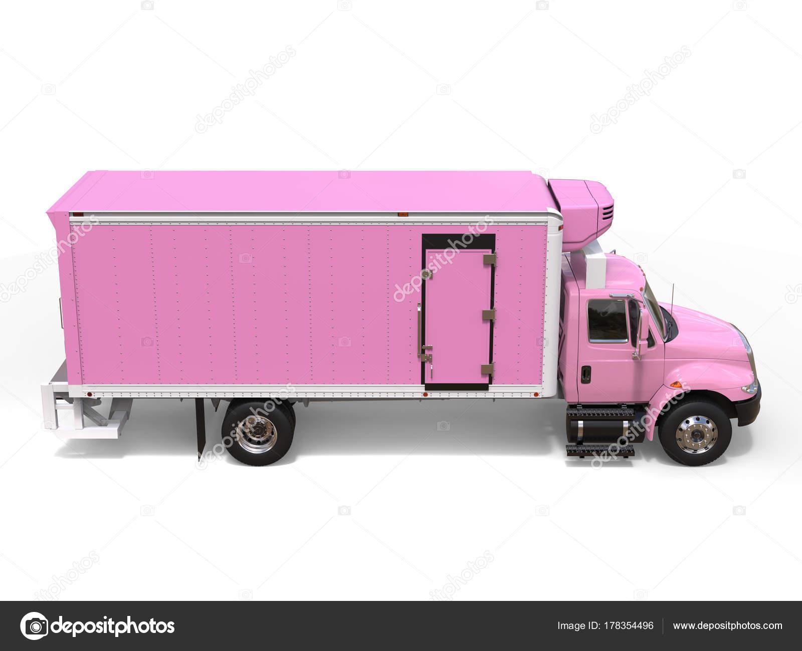 Kühlschrank Rosa : Rosa kühlschrank lkw ladung von oben nach unten seitenansicht