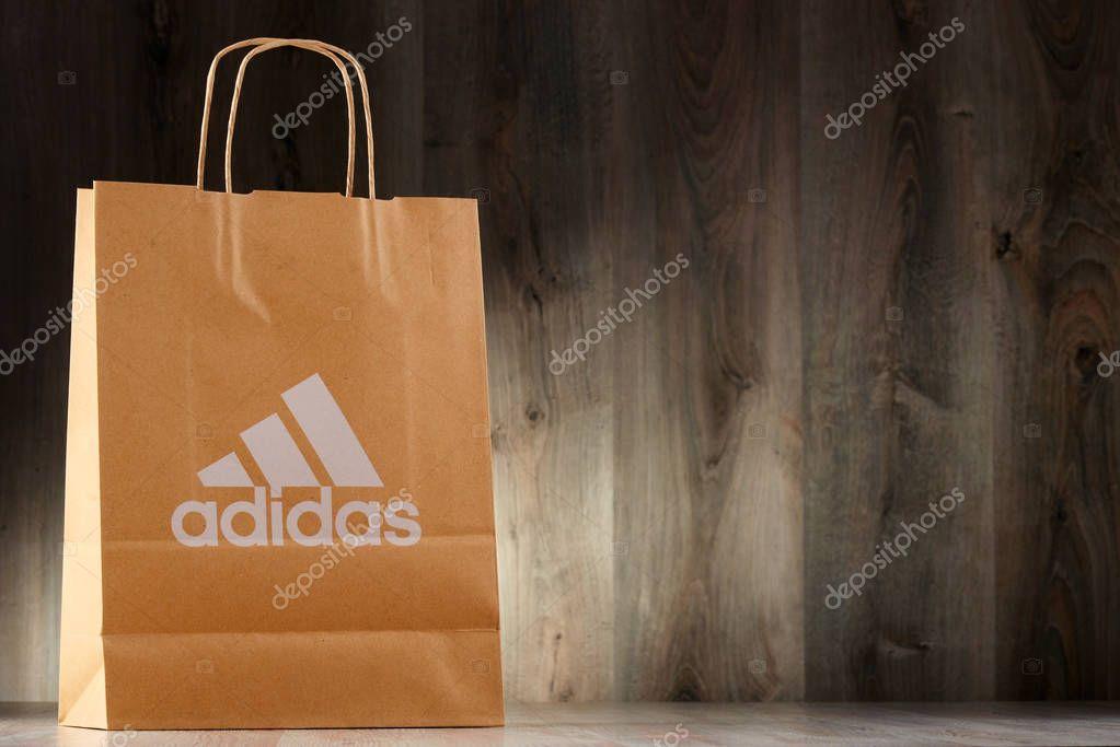 Original Adidas paper shopping bag – Stock Editorial Photo