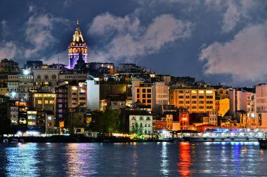 Galata Tower in the Galata quarter of Istanbul, Turkey