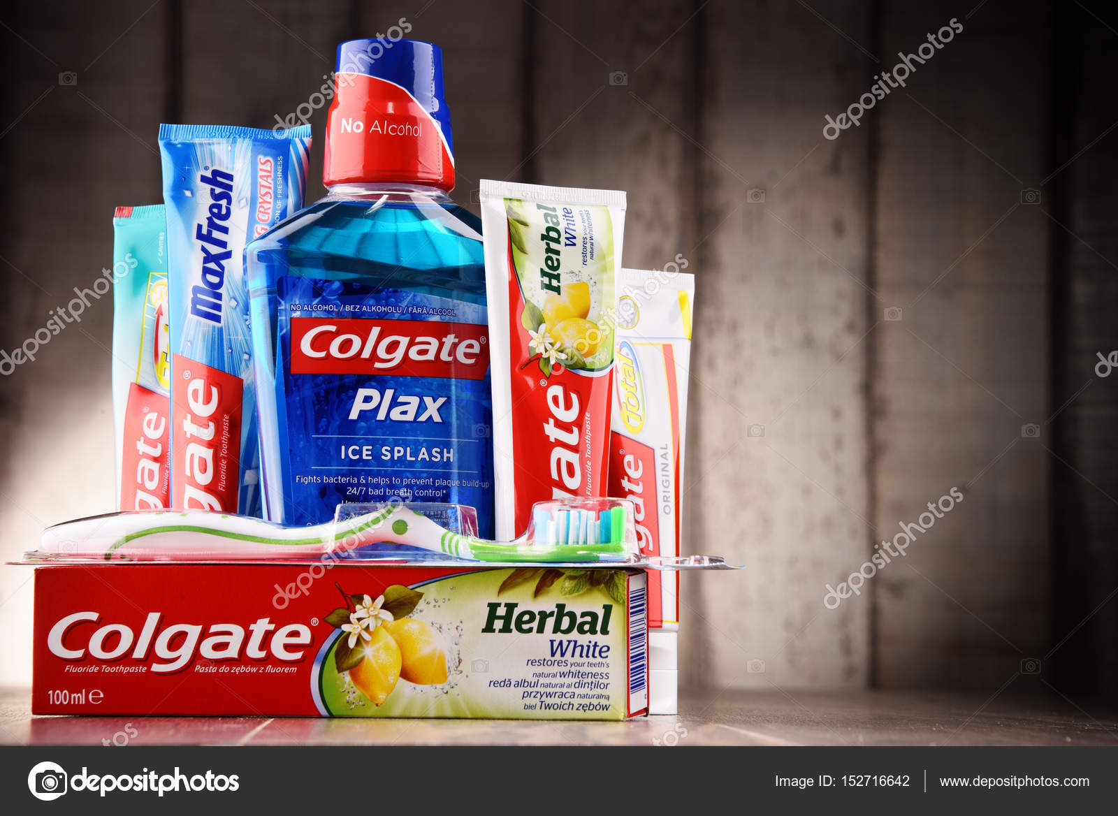 Composition with Colgate products – Stock Editorial Photo